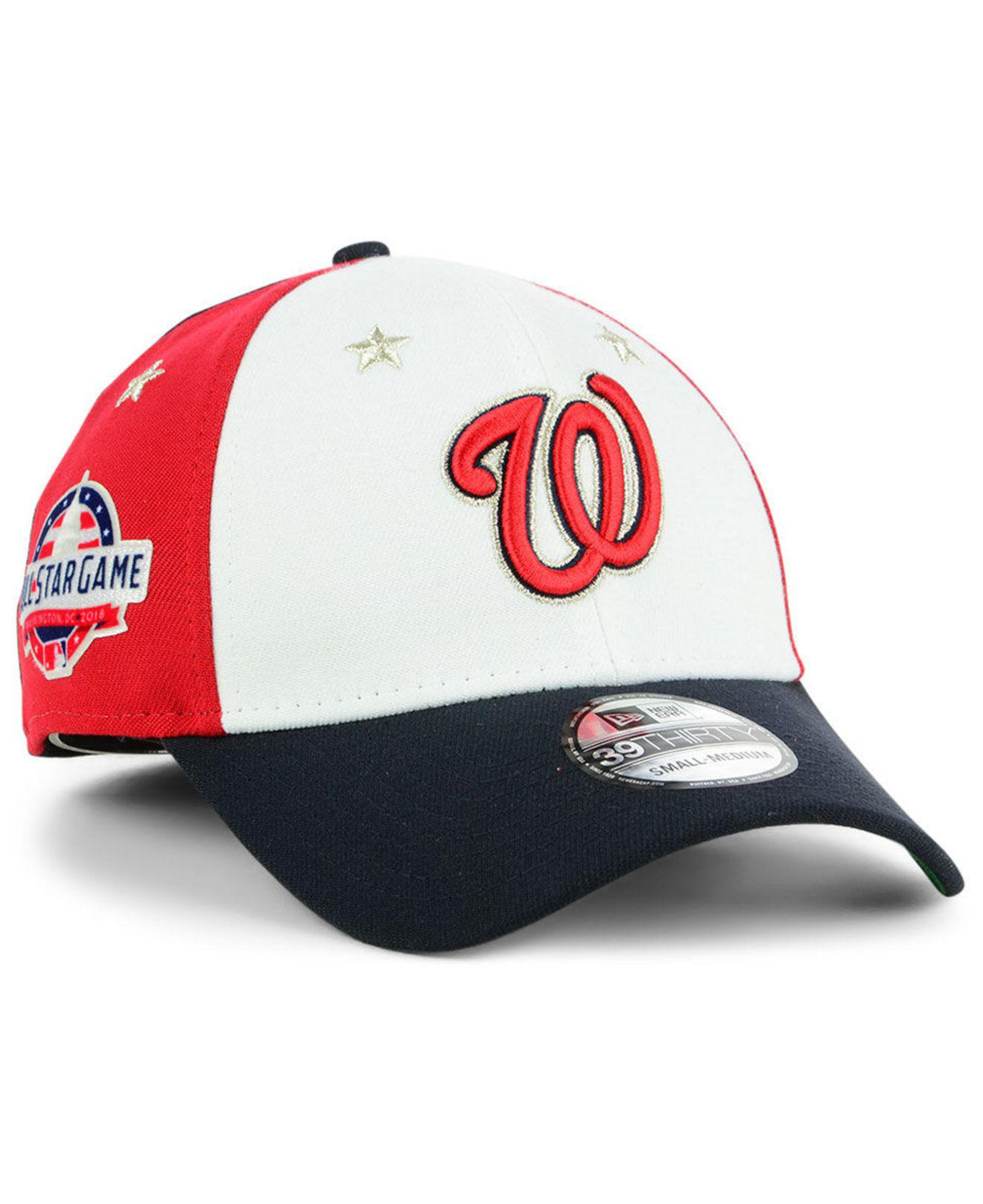 11908263452ca2 KTZ. Men's Red Washington Nationals All Star Game 39thirty Stretch Fitted  Cap 2018