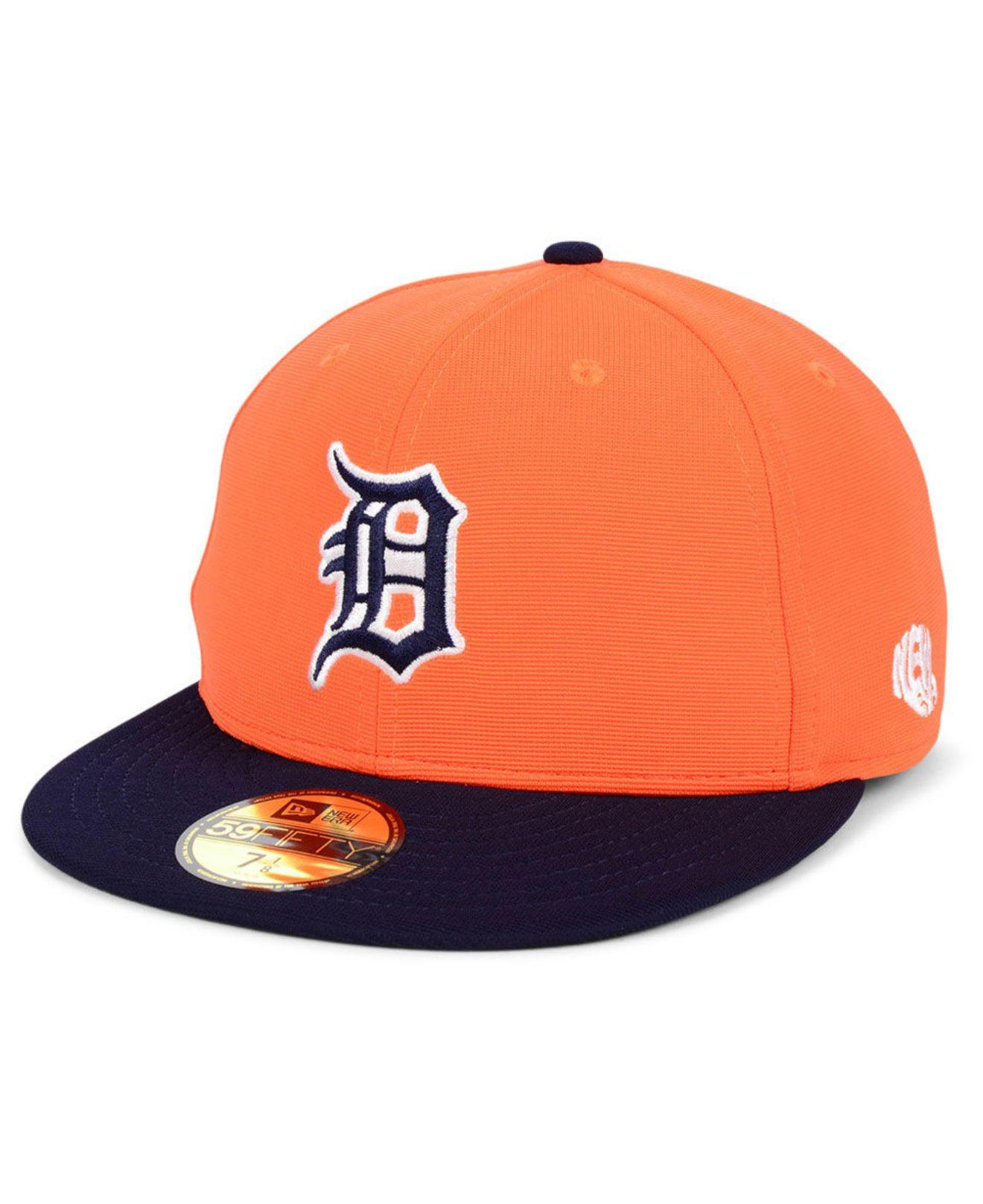 new product 2b090 3a95f KTZ. Men s Orange Detroit Tigers Cooperstown Flip 59fifty Fitted Cap