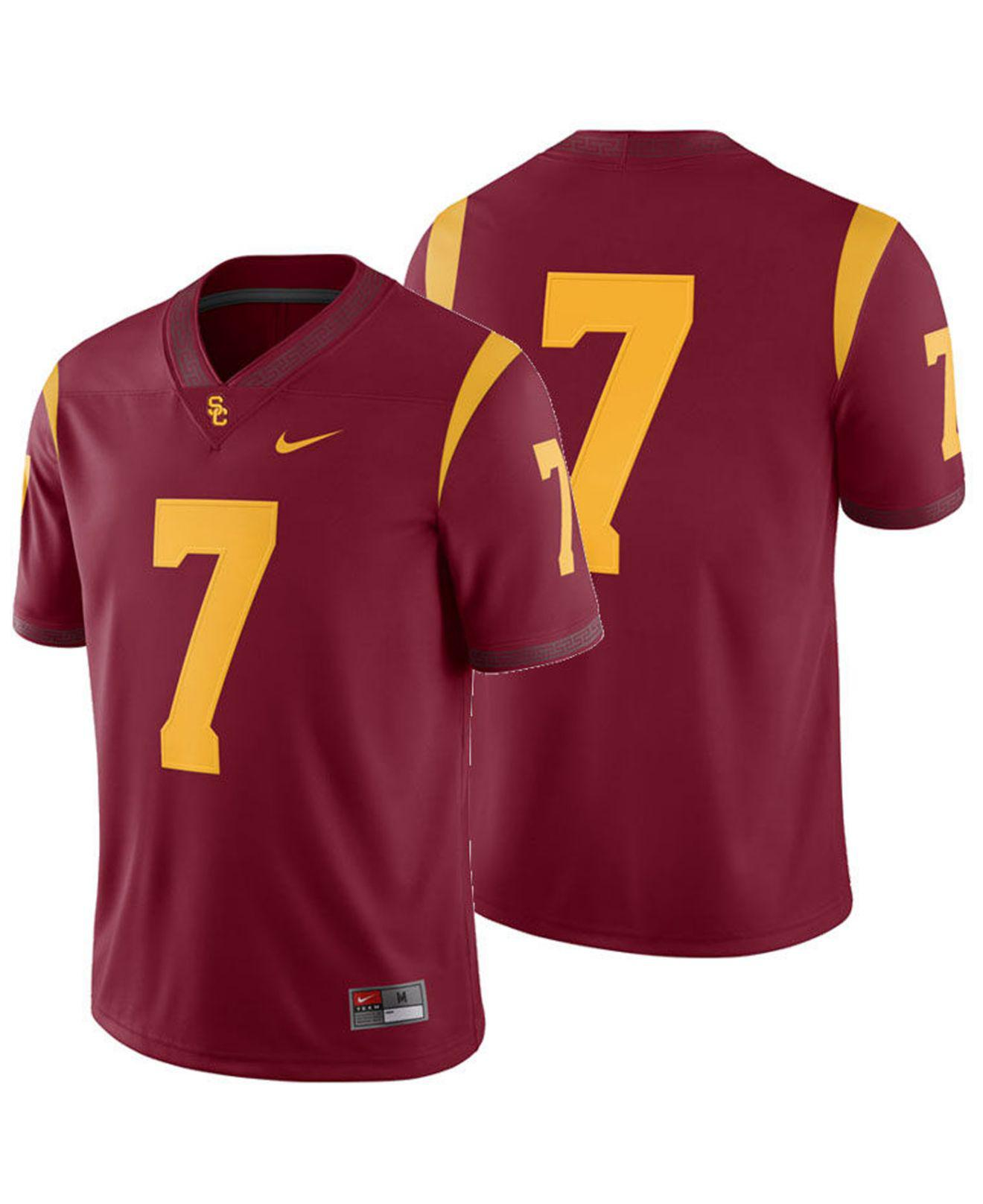 847ceafdd77 Lyst - Nike Usc Trojans Football Replica Game Jersey in Red for Men