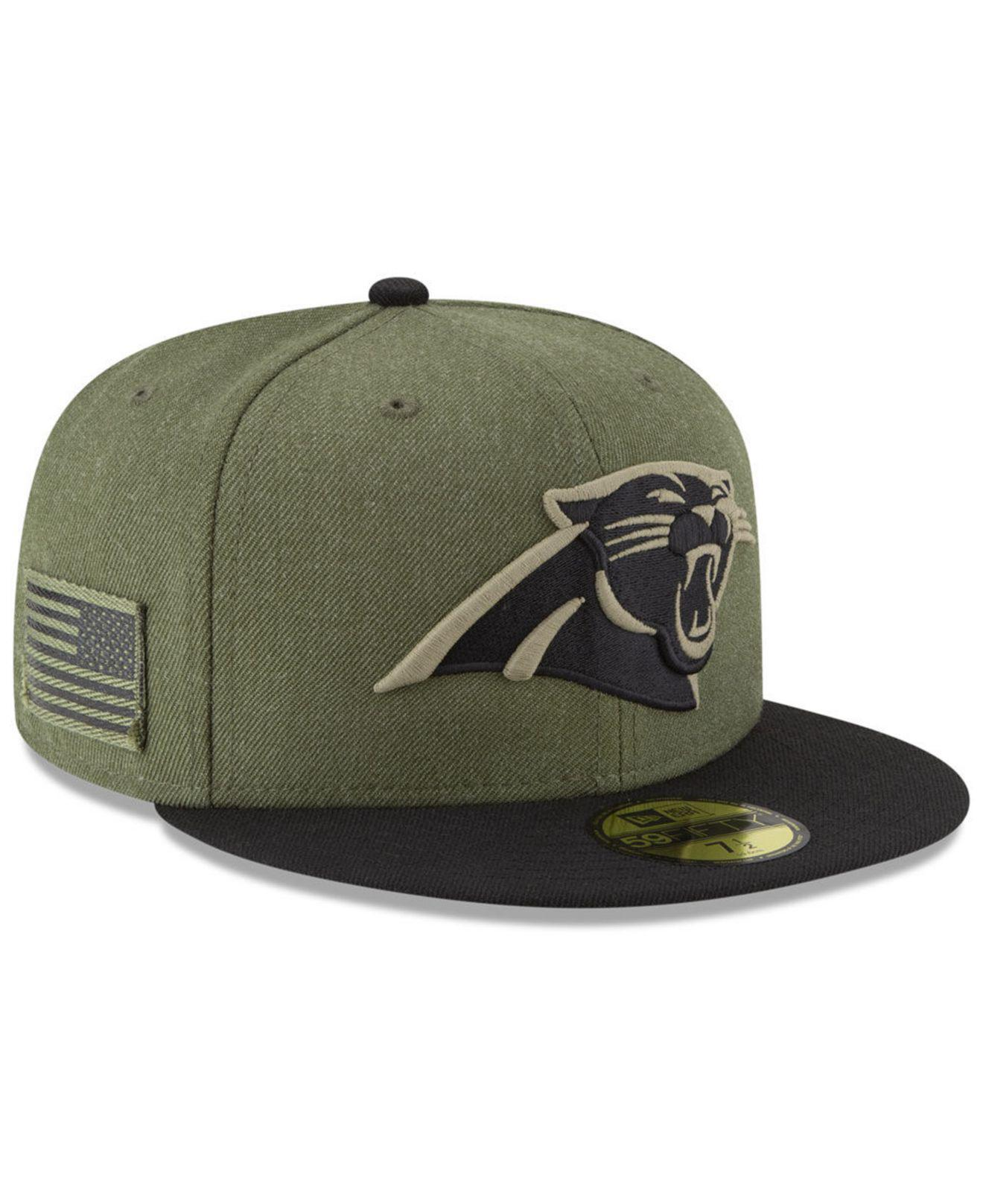 buy popular 27716 02cde KTZ. Men s Green Carolina Panthers Salute To Service 59fifty Fitted Cap