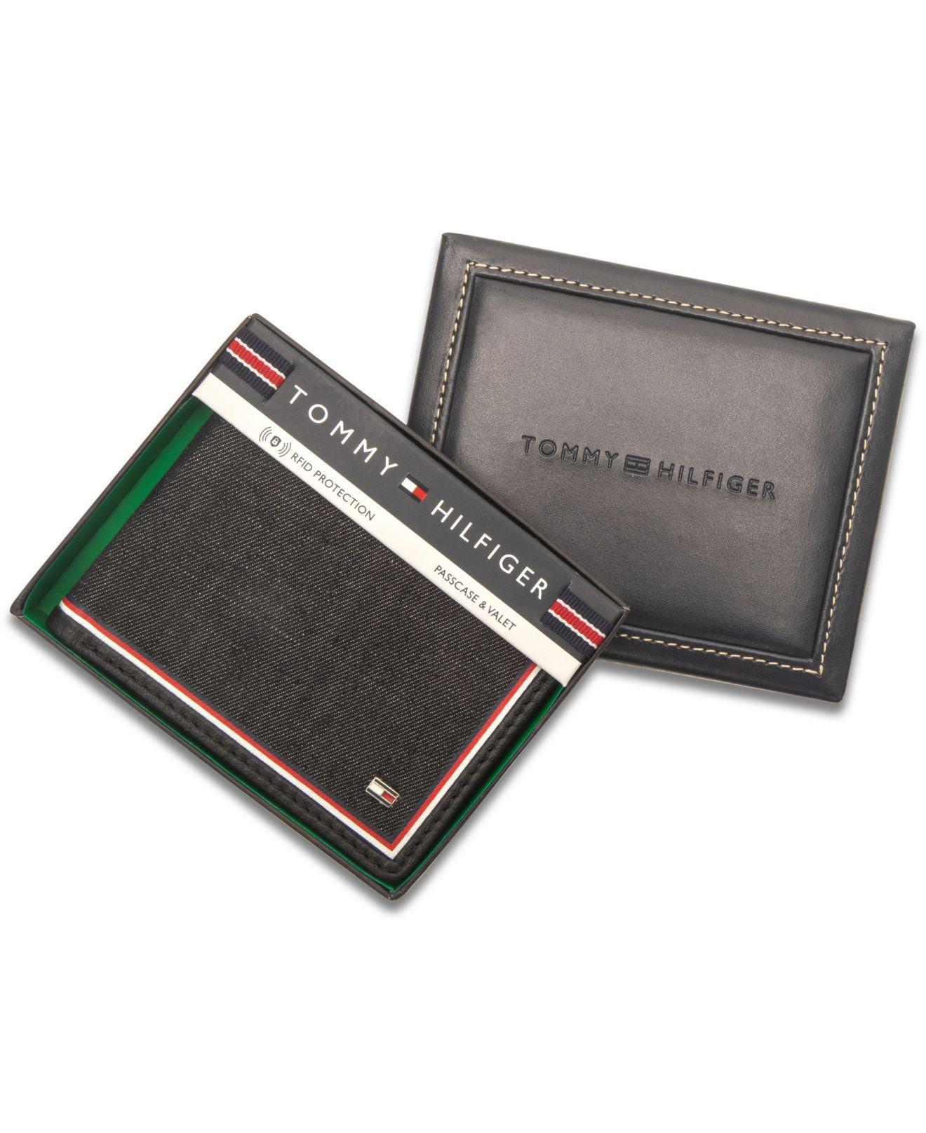 939f520f94 Tommy Hilfiger - Black Omarion Passcase Wallet for Men - Lyst. View  fullscreen