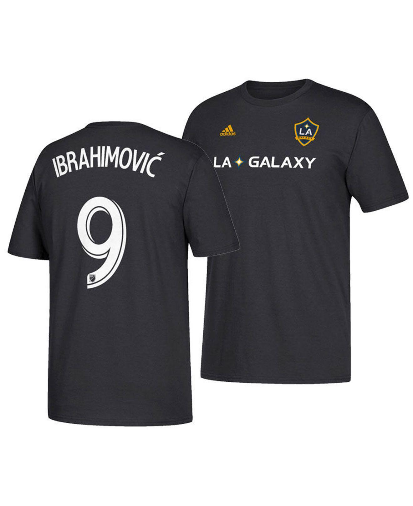 wholesale dealer 17f4e 8cc54 Men's Black Zlatan Ibrahimovic La Galaxy Alternate Player T-shirt