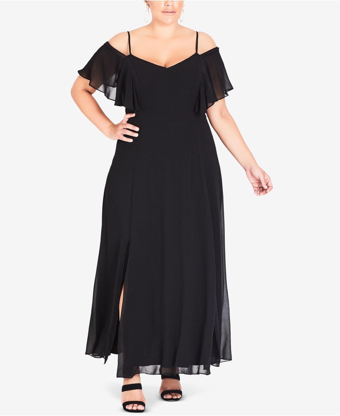Sweet Shoulder Maxi Dress (plus Size)
