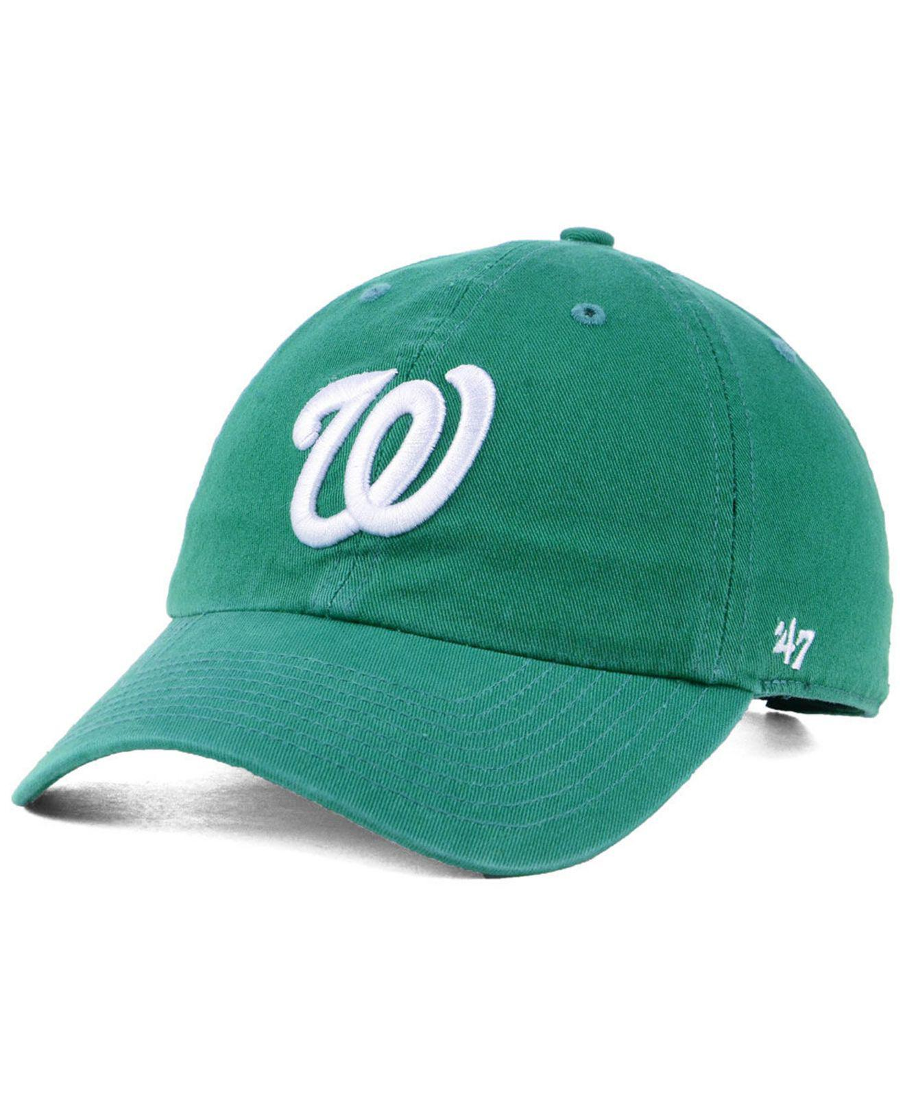 sports shoes 05875 75e64 ... purchase 47 brand. mens green washington nationals kelly white clean up  cap bdacc 5ce85