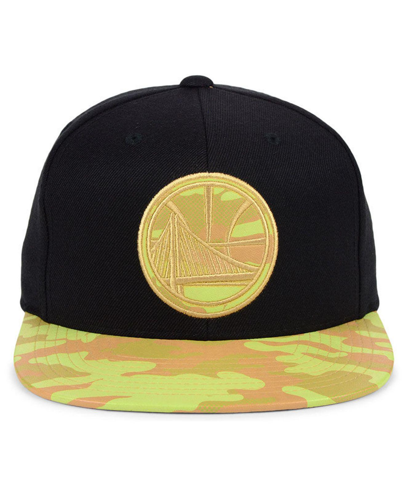 promo code 2790e 08825 Mitchell   Ness Golden State Warriors Natural Camo Snapback Cap in Black  for Men - Save 52% - Lyst