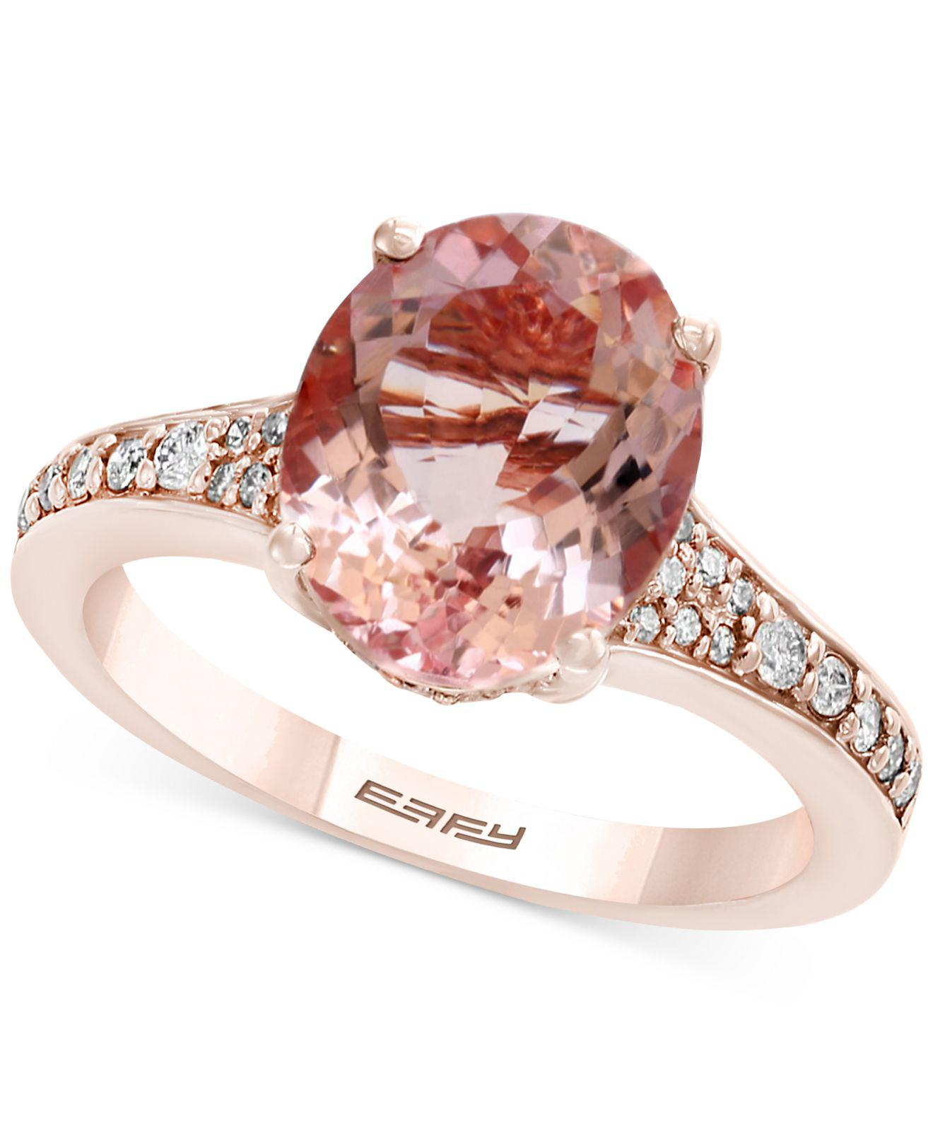 3d4b9d462f3a Effy Collection. Women s Metallic Morganite (3-1 5 Ct. T.w.)   Diamond ...