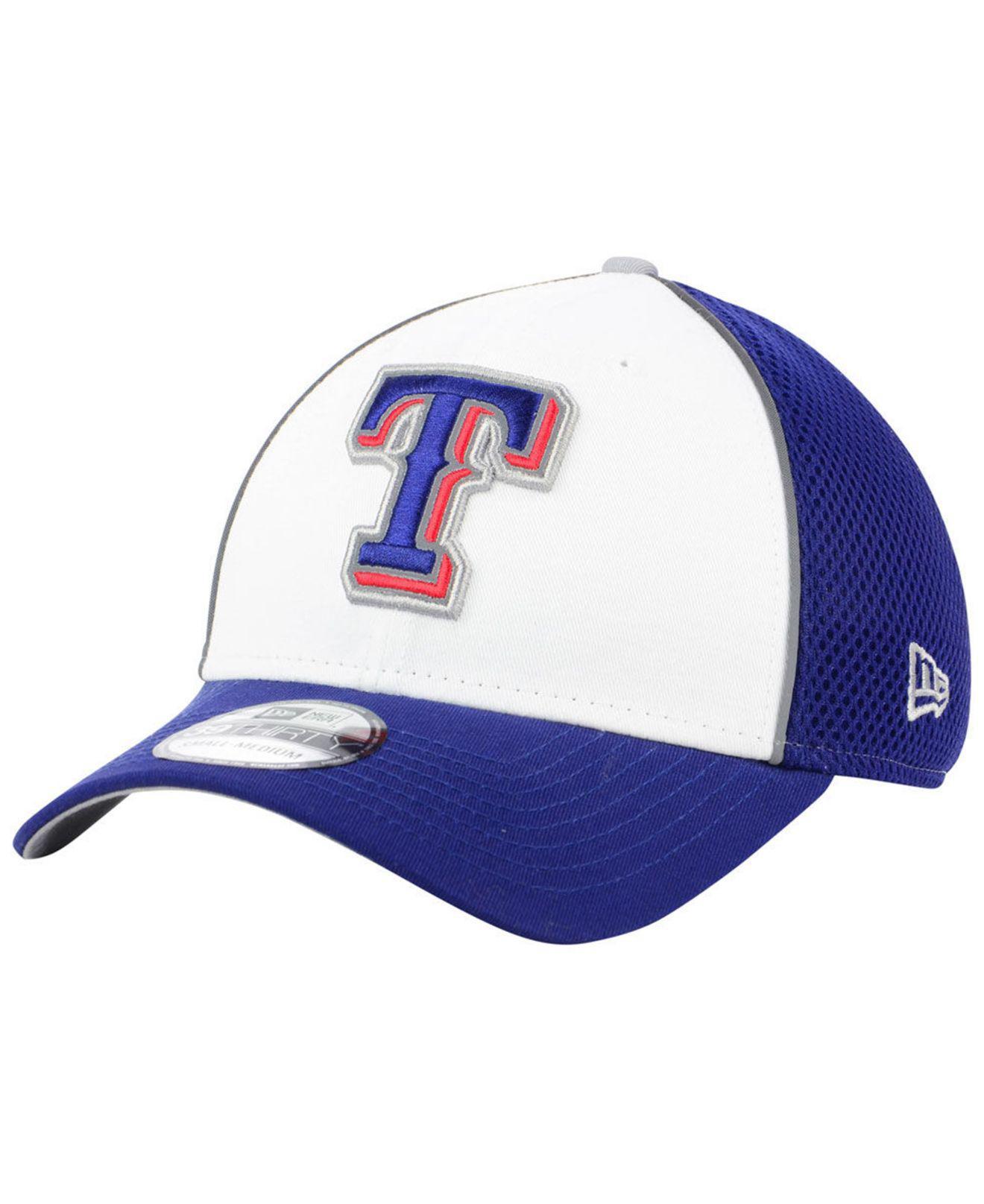 best loved 21c7a 2cb02 KTZ - Blue Texas Rangers Pop Reflective 39thirty Cap for Men - Lyst. View  fullscreen