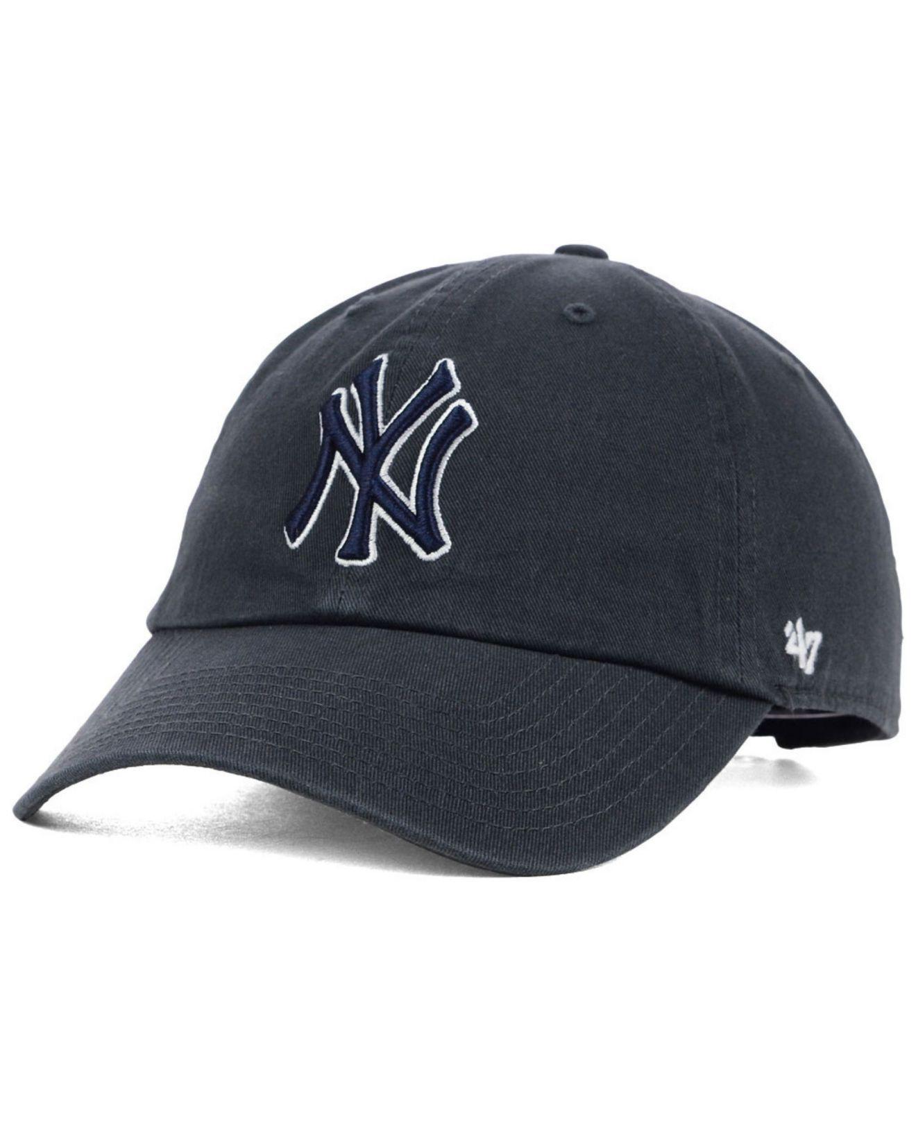 8b12a38b97b Lyst - 47 Brand New York Yankees Clean Up Cap in Gray for Men