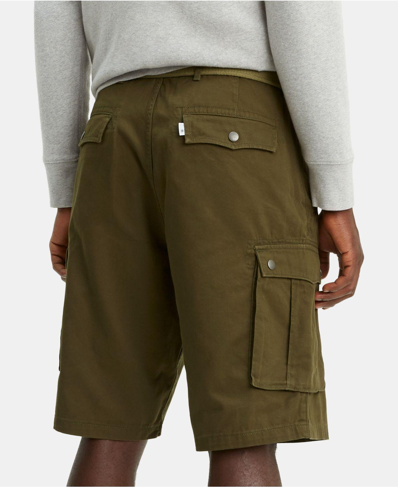 acbd5f4214 Lyst - Levi's Snap Cargo Shorts in Green for Men