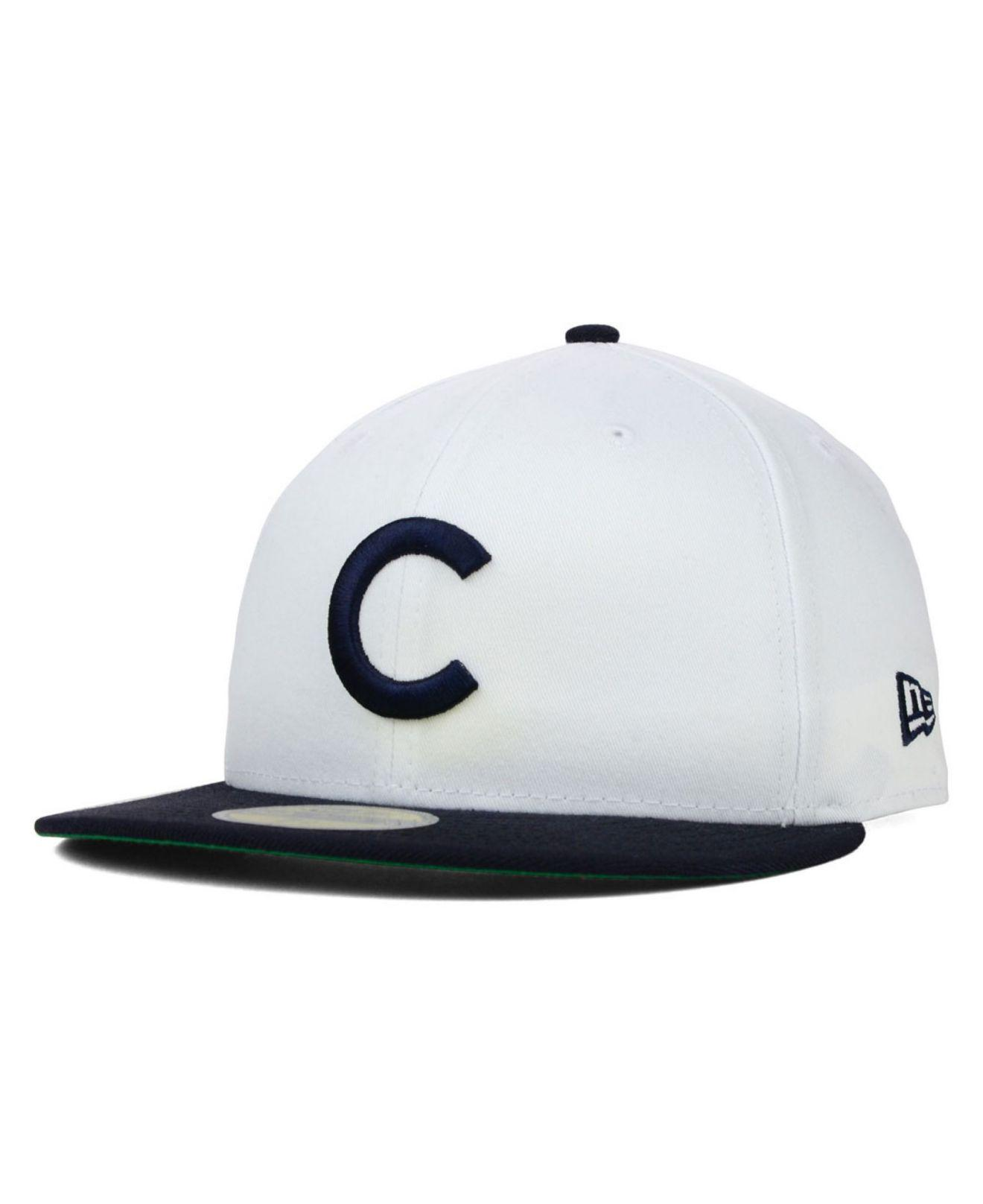 fb8bba0fbd9 Lyst - KTZ Chicago Cubs Mlb Cooperstown 59fifty Cap in White for Men