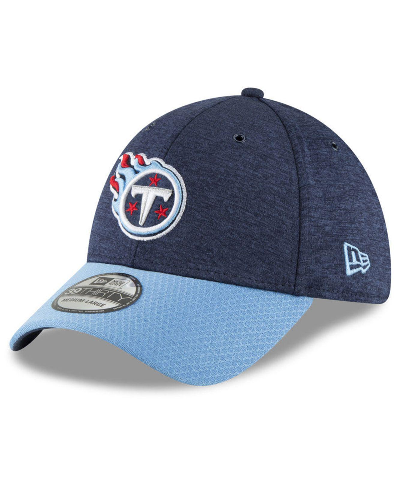 best service 60e10 ccfbc KTZ. Men s Blue Tennessee Titans On Field Sideline Home 39thirty Cap