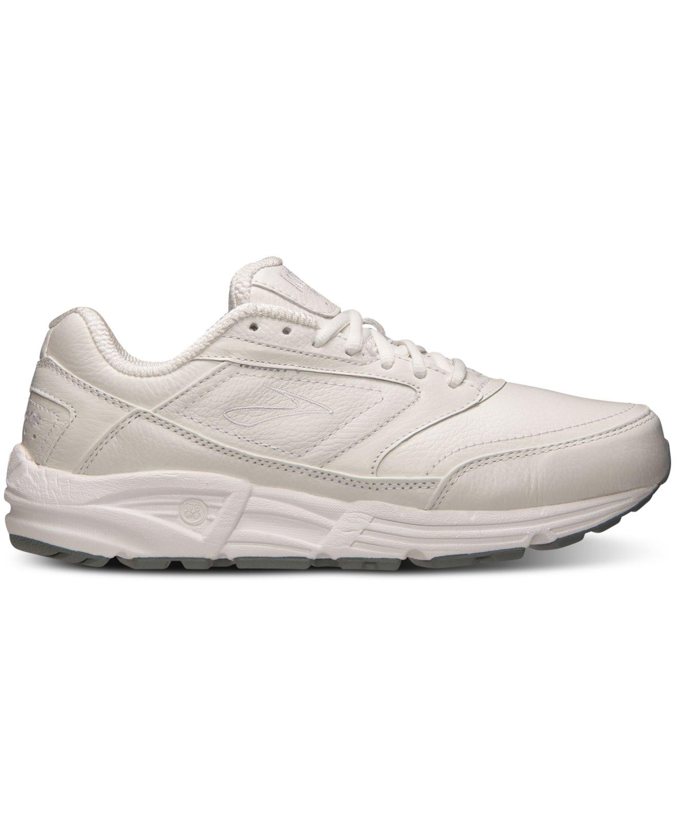 e6a43a267973d Lyst - Brooks Women s Addiction Walker Casual Sneakers From Finish Line in  White