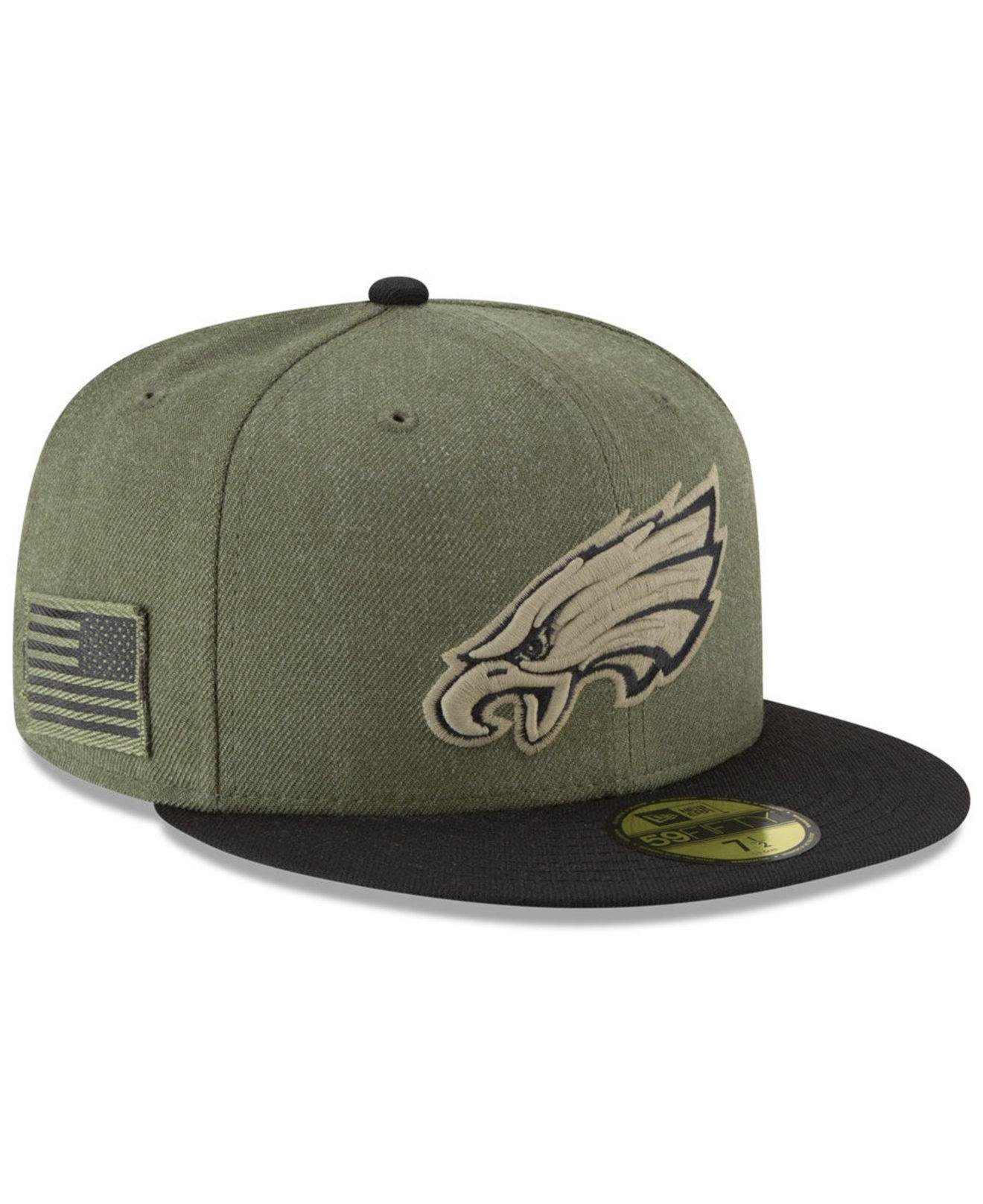 new products 78140 457c8 Lyst - KTZ Philadelphia Eagles Salute To Service 59fifty Fitted Cap ...