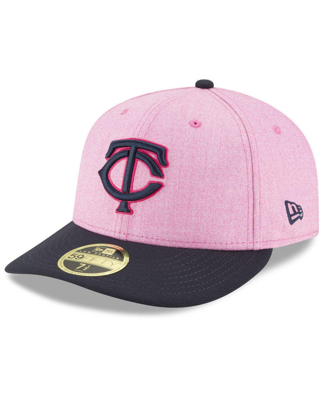 3b155332e151d4 KTZ. Women's Pink Minnesota Twins Mothers Day Low Profile 59fifty Fitted Cap