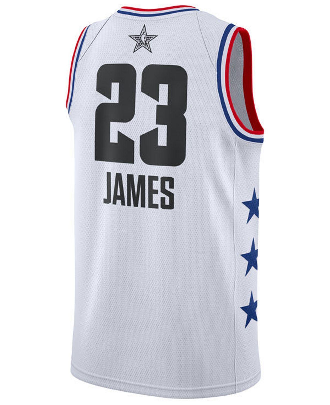 646901552 Lyst - Nike Lebron James Los Angeles Lakers All-star Swingman Jersey in  White for Men