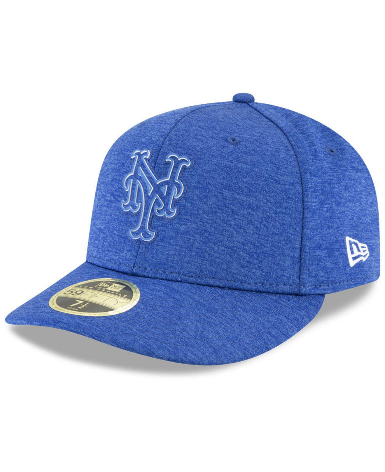 7ca6b472f93 Lyst - KTZ New York Mets Clubhouse Low Crown 59fifty Fitted Cap in Blue for  Men