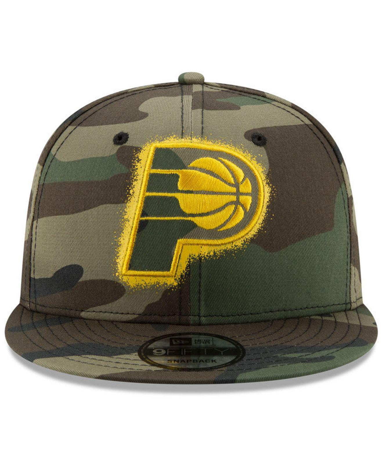 first rate c8b4a c2c60 KTZ Indiana Pacers Overspray 9fifty Snapback Cap in Green for Men - Lyst