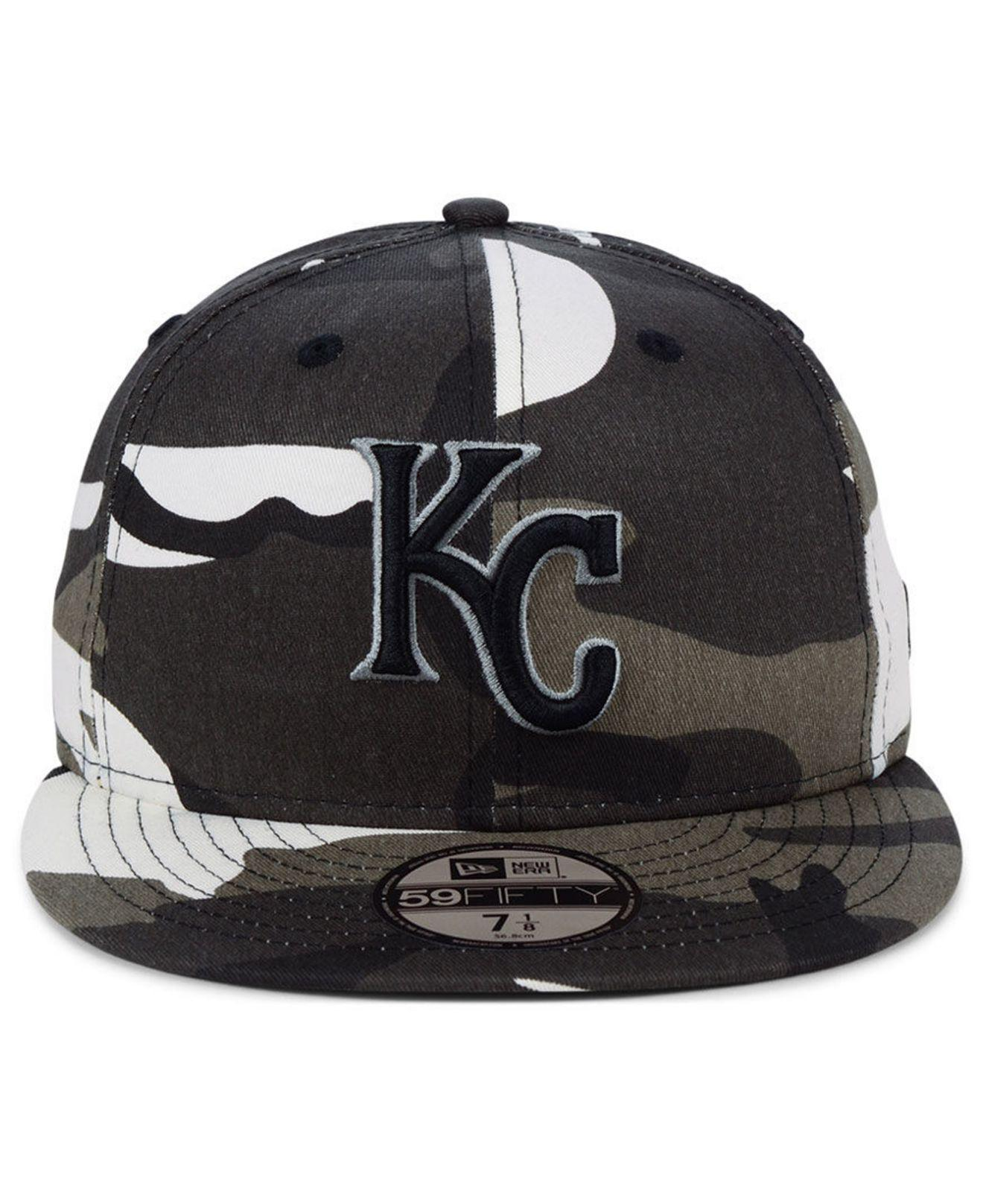2c8fd44223e Lyst - KTZ Kansas City Royals Fall Prism Pack 59fifty-fitted Cap in Black  for Men
