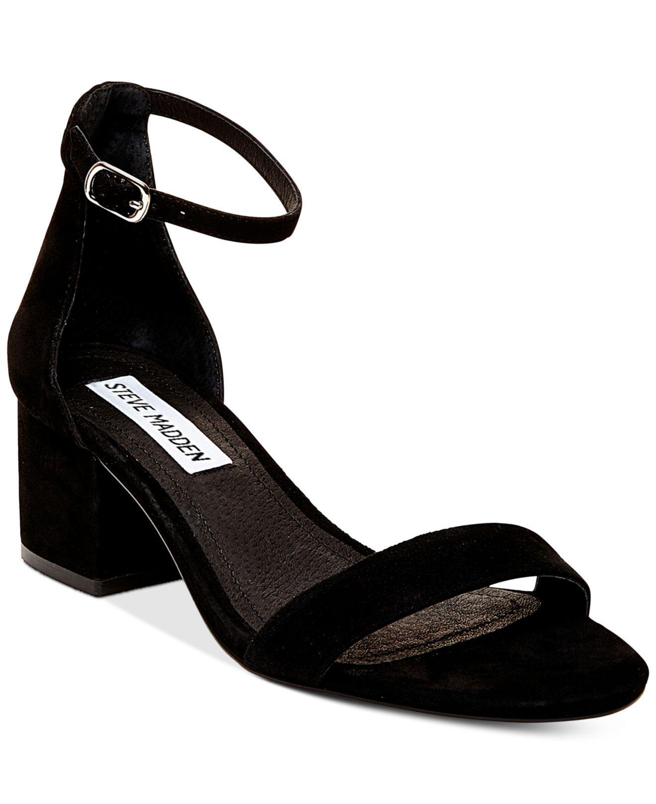 cd85c74aa85 Lyst - Steve Madden Irenee Two-piece Block-heel Sandals in Black