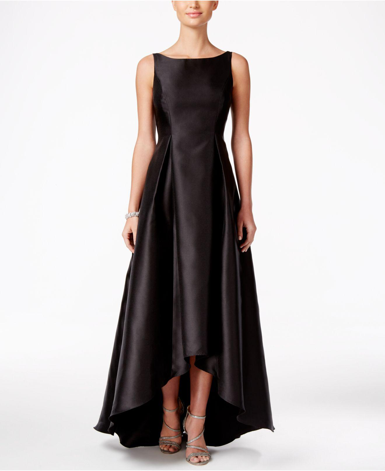 Lyst - Adrianna Papell High-low Ball Gown in Black