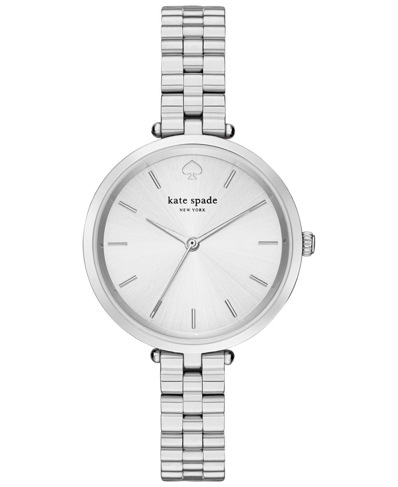 42a340466b2 Kate Spade - Gray Women s Holland Stainless Steel Bracelet Watch 34mm  1yru0859 - Lyst. View fullscreen