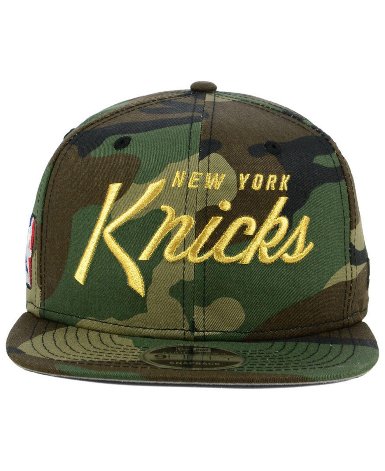 big sale e9c46 43896 ... discount code for lyst ktz new york knicks classic script 9fifty  snapback cap in green for