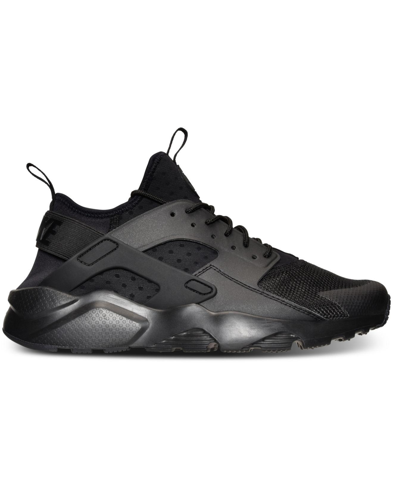timeless design 71036 9a94b Lyst - Nike Men s Air Huarache Run Ultra Running Sneakers From Finish Line  in Black for Men - Save 16%