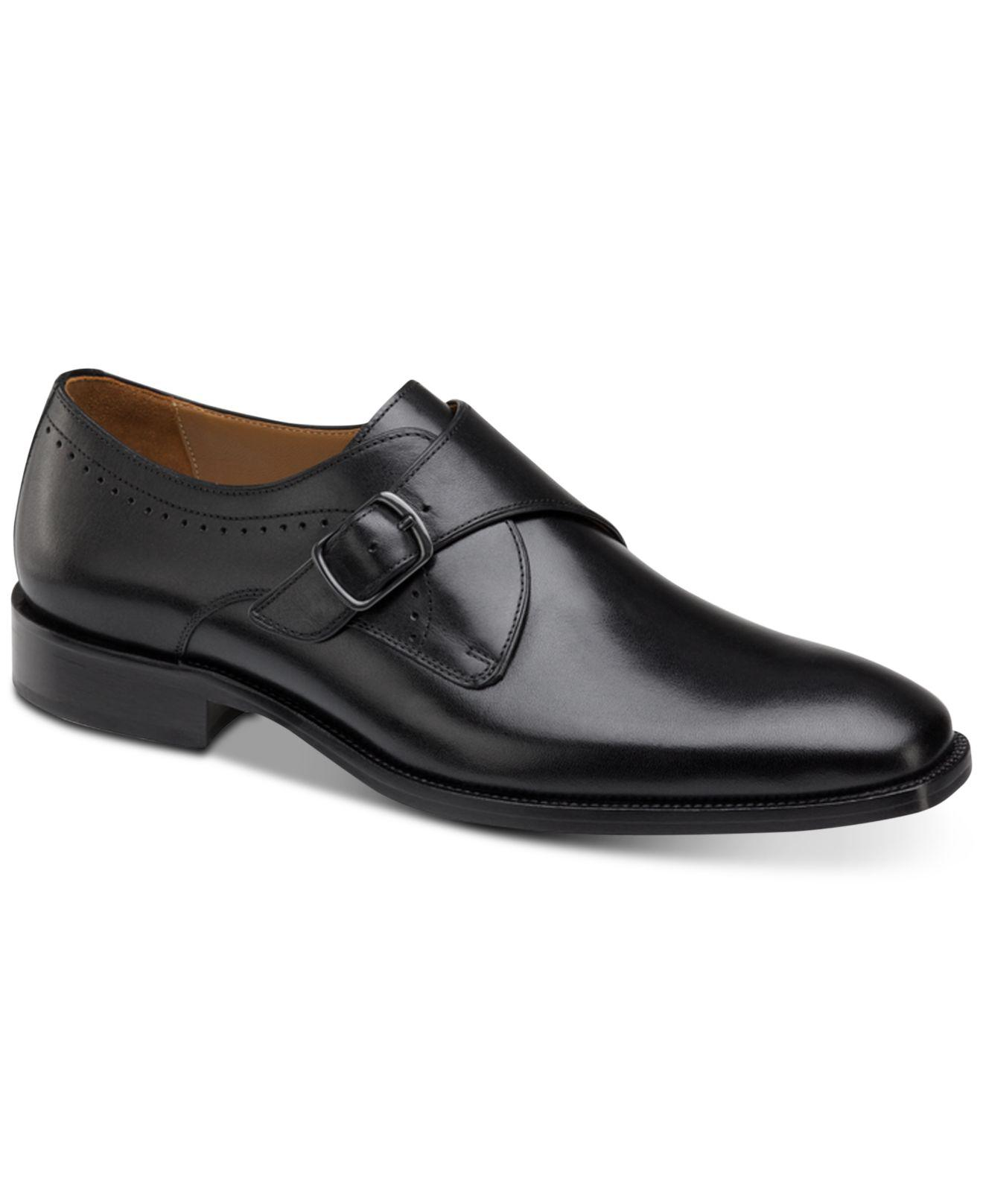 656cbc49311 Lyst - Johnston   Murphy Sanborn Monk Strap Loafers in Black for Men