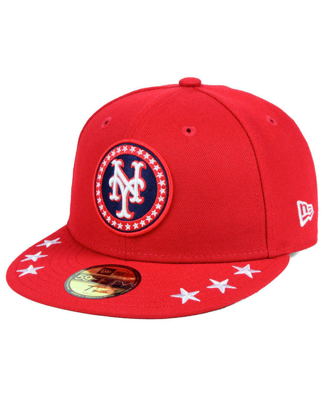 ac329f32a514e KTZ - Red New York Mets All Star Workout 59fifty Fitted Cap for Men - Lyst.  View fullscreen