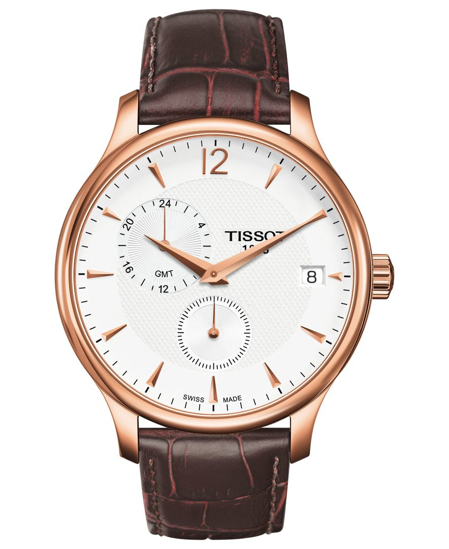 Tissot Watch Men S Swiss Tradition Brown Leather Strap