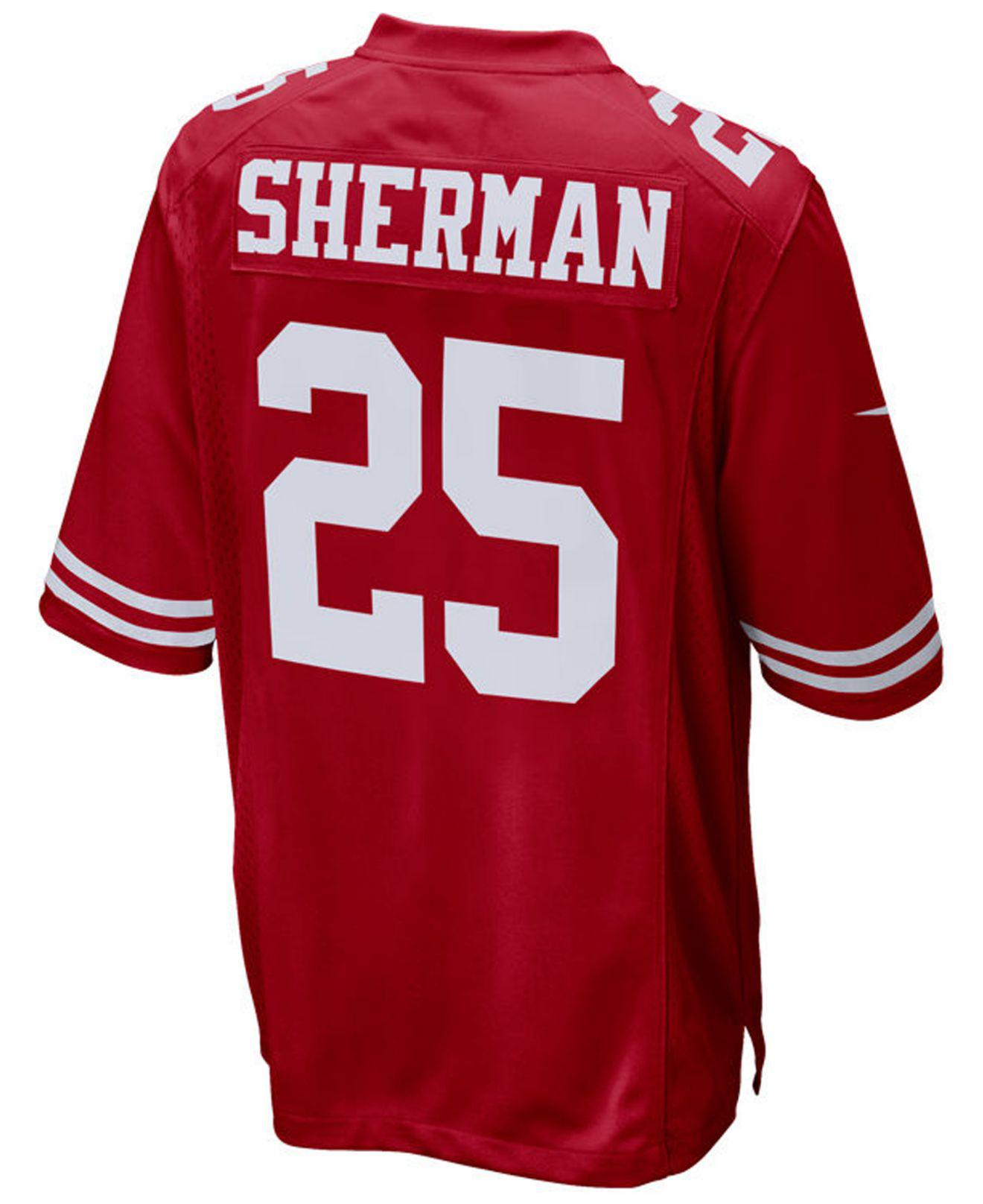 1a38f339eee Lyst - Nike Richard Sherman San Francisco 49ers Game Jersey in Red ...