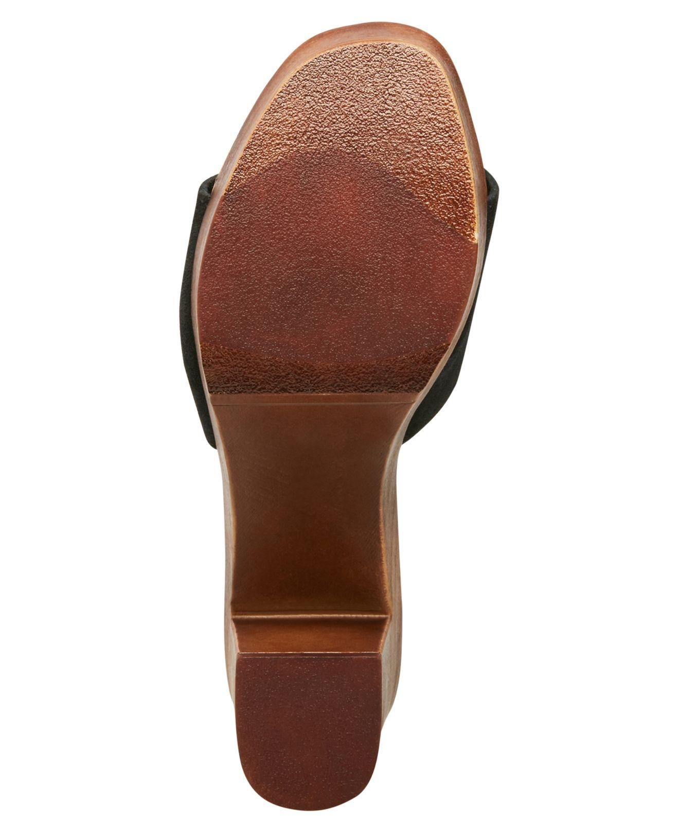 c84b8b8079e Steve Madden Black Fran Wooden Platform Sandals