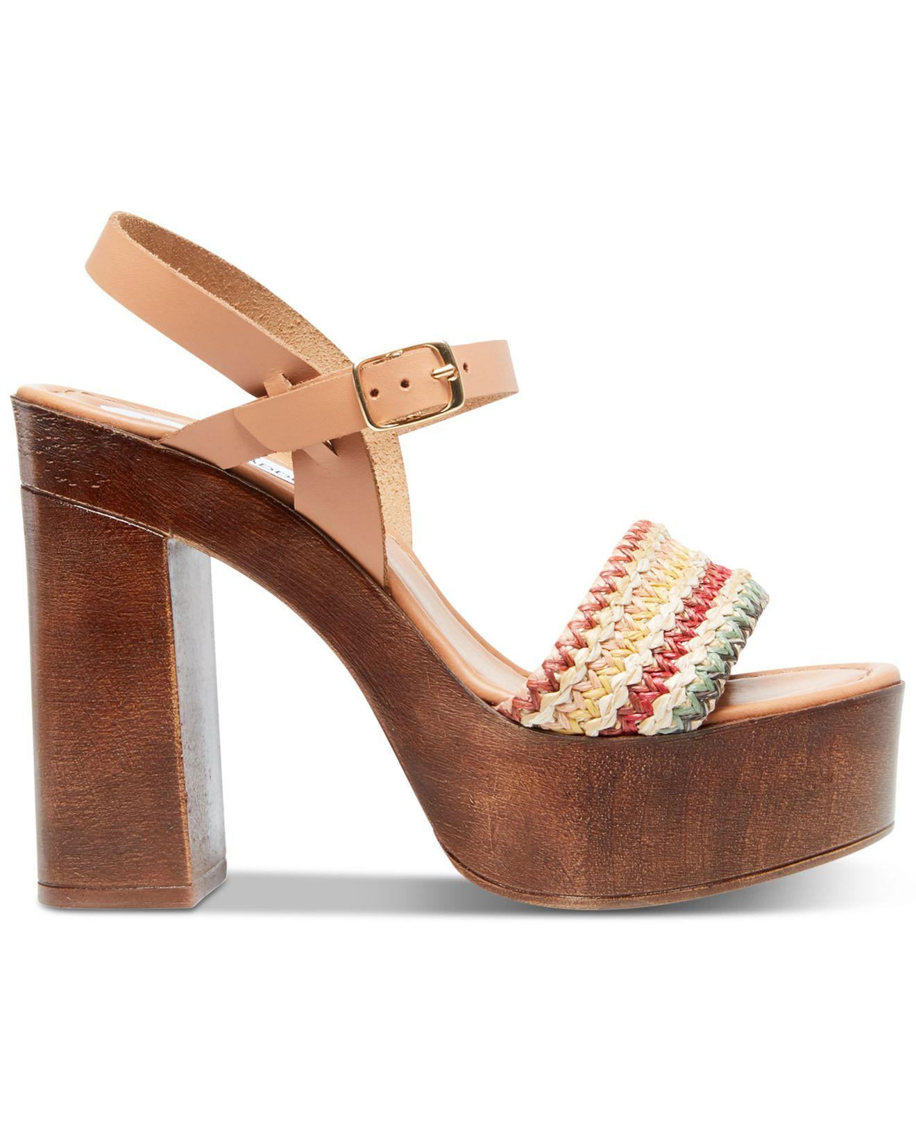 Steve Madden Leather Laurisa Wood