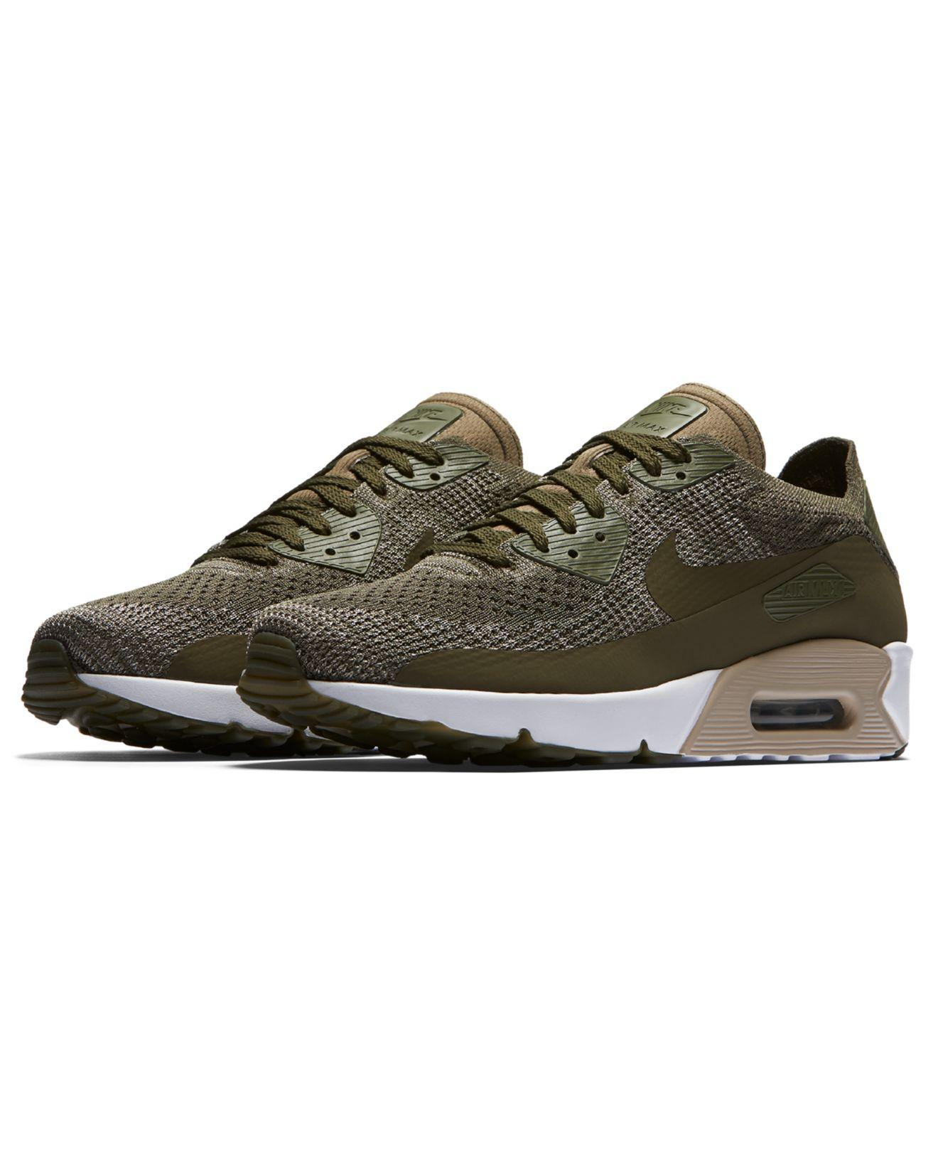 online store 89001 9170c Lyst - Nike Men s Air Max 90 Ultra 2.0 Flyknit Running Sneakers From Finish  Line in Green for Men