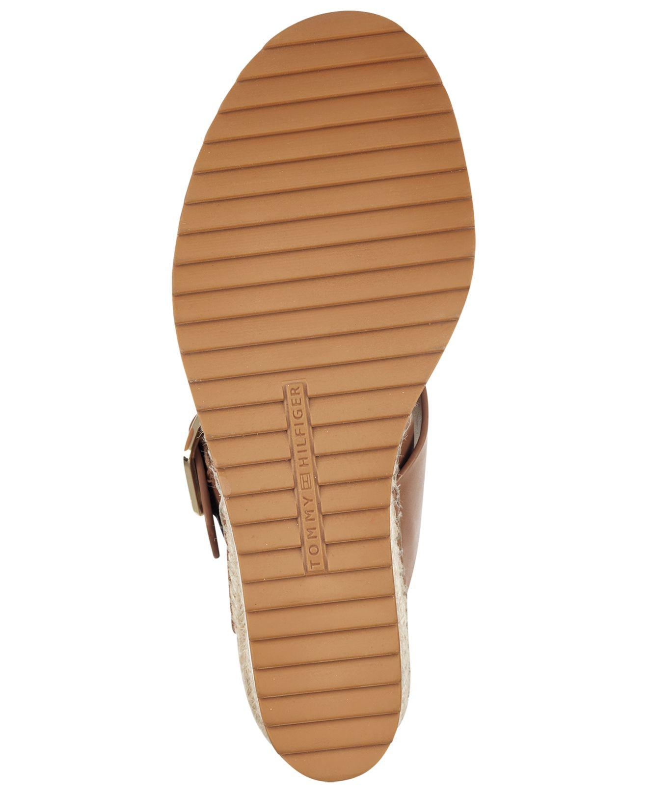 c207e735f7a Tommy Hilfiger Brown Yazzi Wedge Sandals