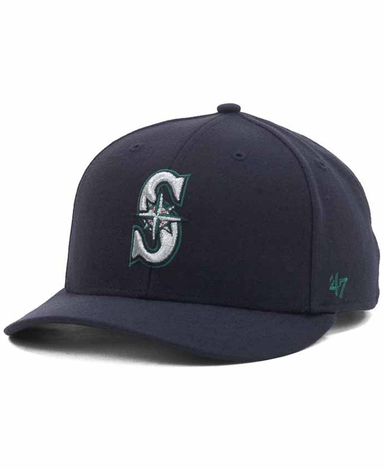 best service b6409 99e60 47 Brand. Men s Blue Seattle Mariners Mlb On Field Replica Mvp Cap