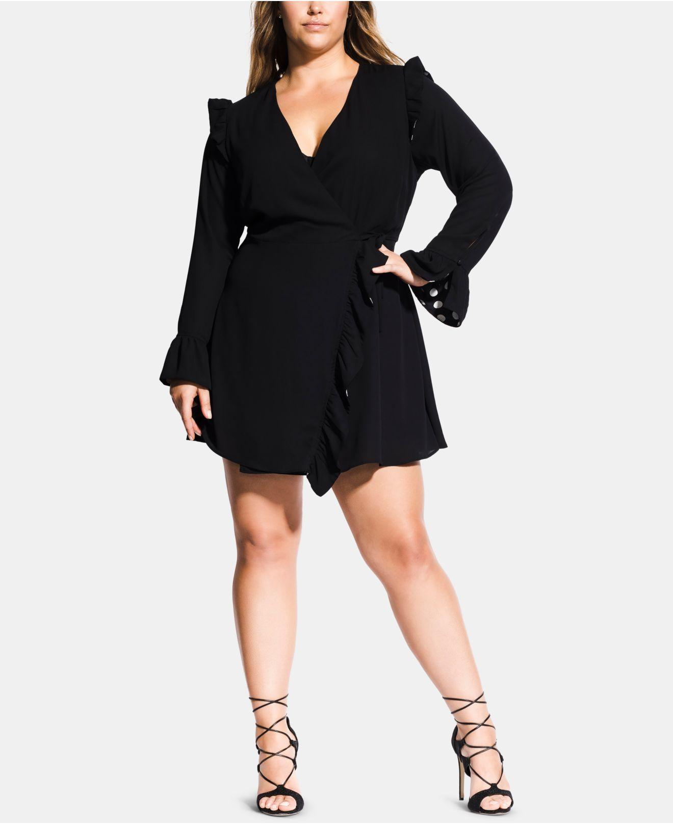 5e6c7e3e8b Lyst - City Chic Trendy Plus Size Catalina Playsuit in Black