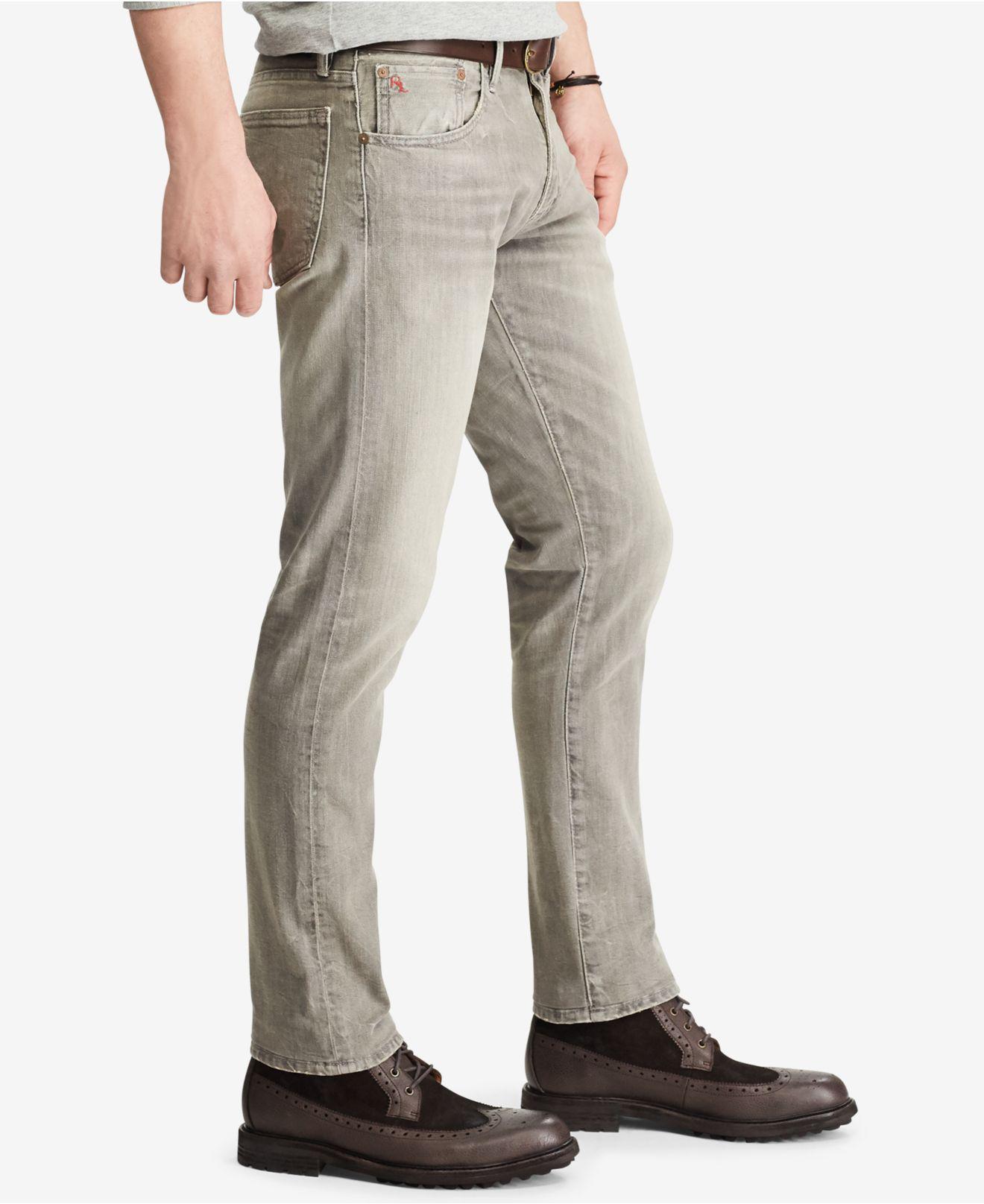 431eb148 Polo Ralph Lauren Gray Men's Varick Slim Straight Jeans for men