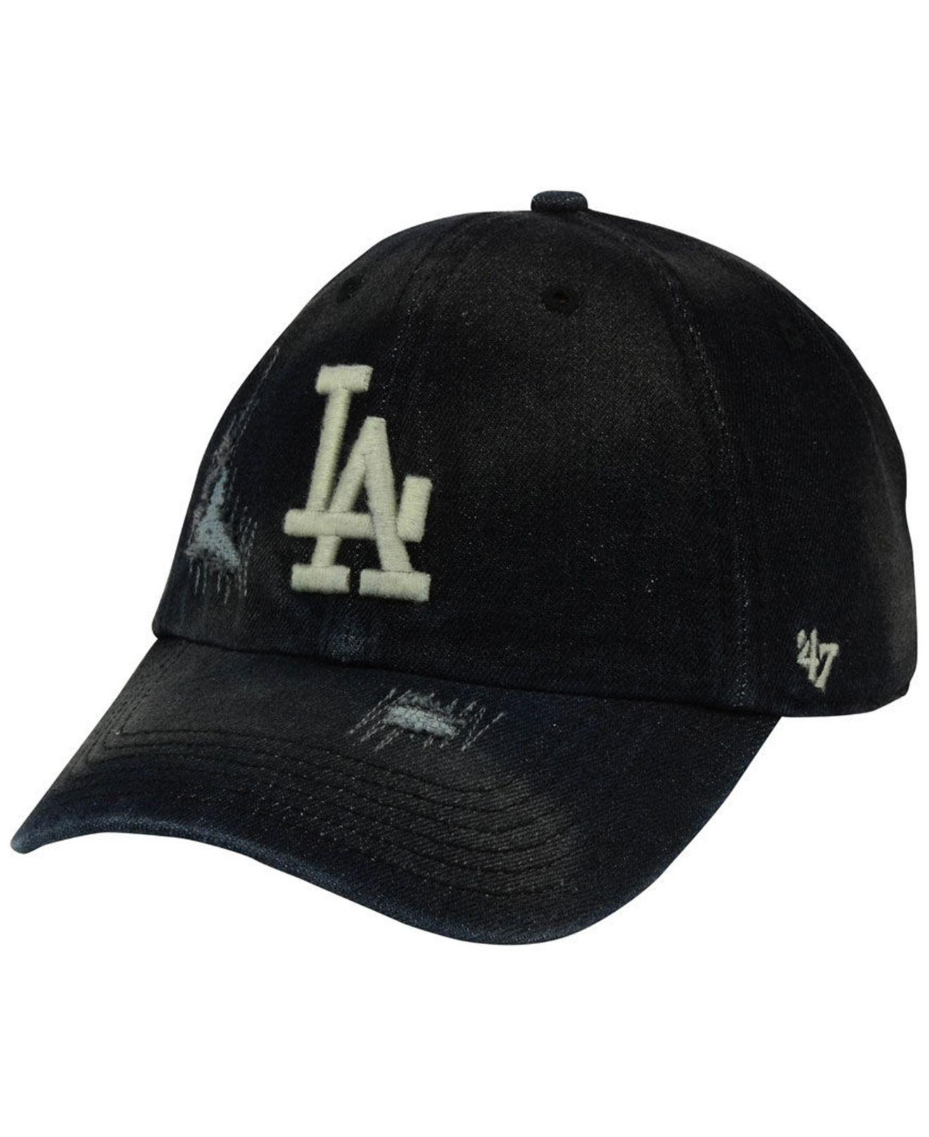 5e7bf0d70c5 Lyst - 47 Brand Los Angeles Dodgers Dark Horse Clean Up Cap in Black ...