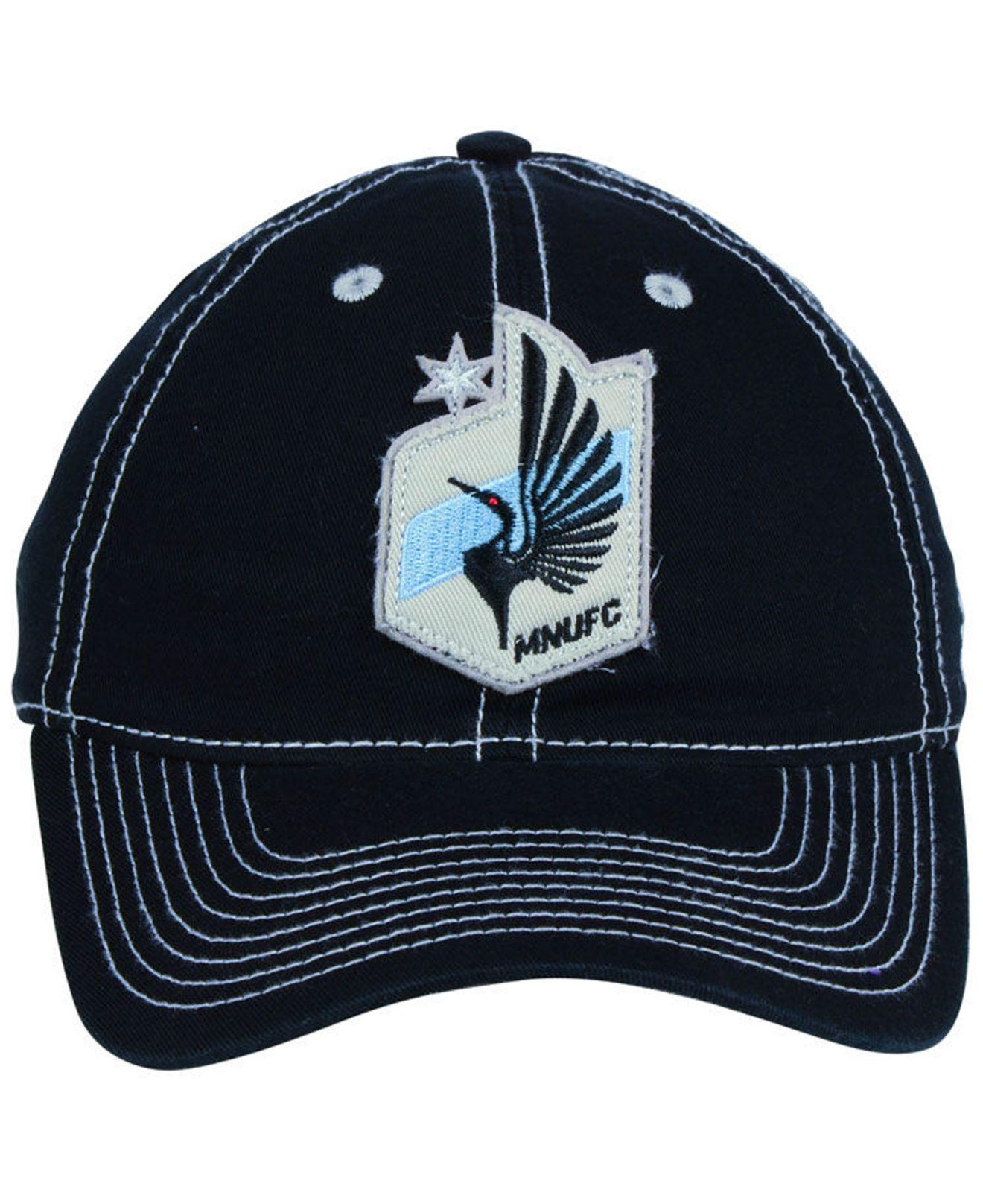 new arrival 16484 0e3d7 ... top quality lyst adidas minnesota united fc sand blast adjustable cap  in black for men a6998