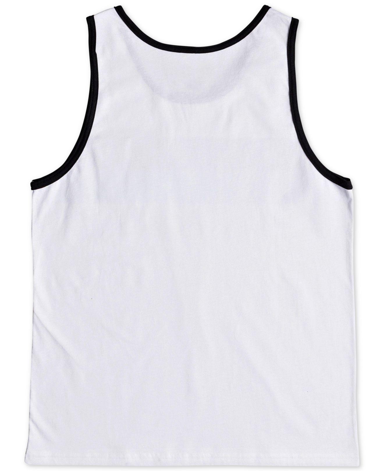 ee9ec0a62034a Lyst - Quiksilver Peaceful Progression Stripe Pocket Tank in White ...