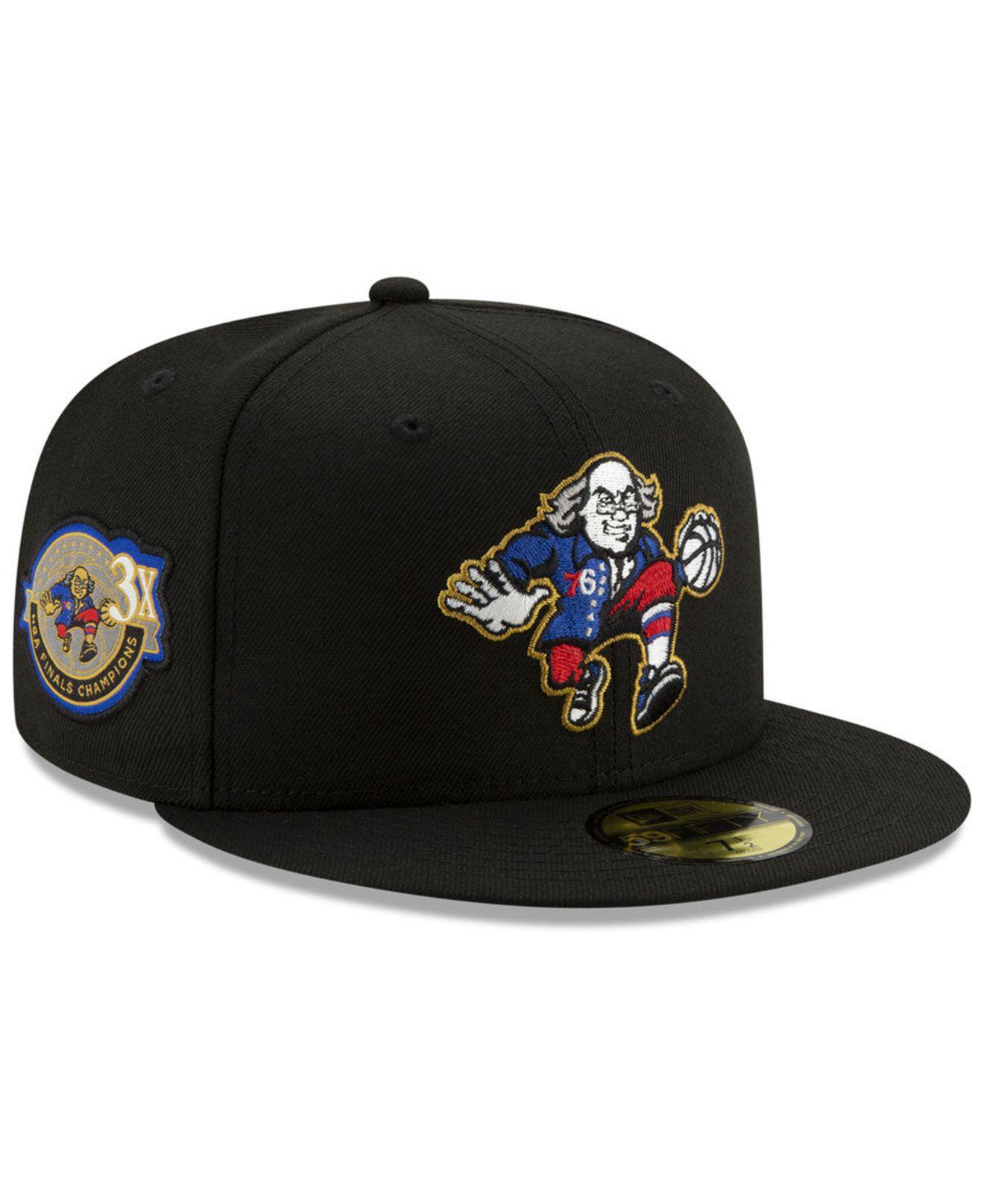 new arrivals 78e4e 33e9b ... get ktz black philadelphia 76ers champs patch remix 59fifty fitted cap  for men lyst b2516 a5ff5