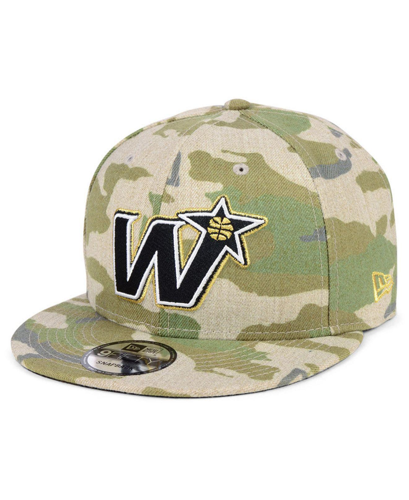 competitive price 5cf80 50141 Lyst - KTZ Washington Wizards Combo Camo 9fifty Snapback Cap in ...