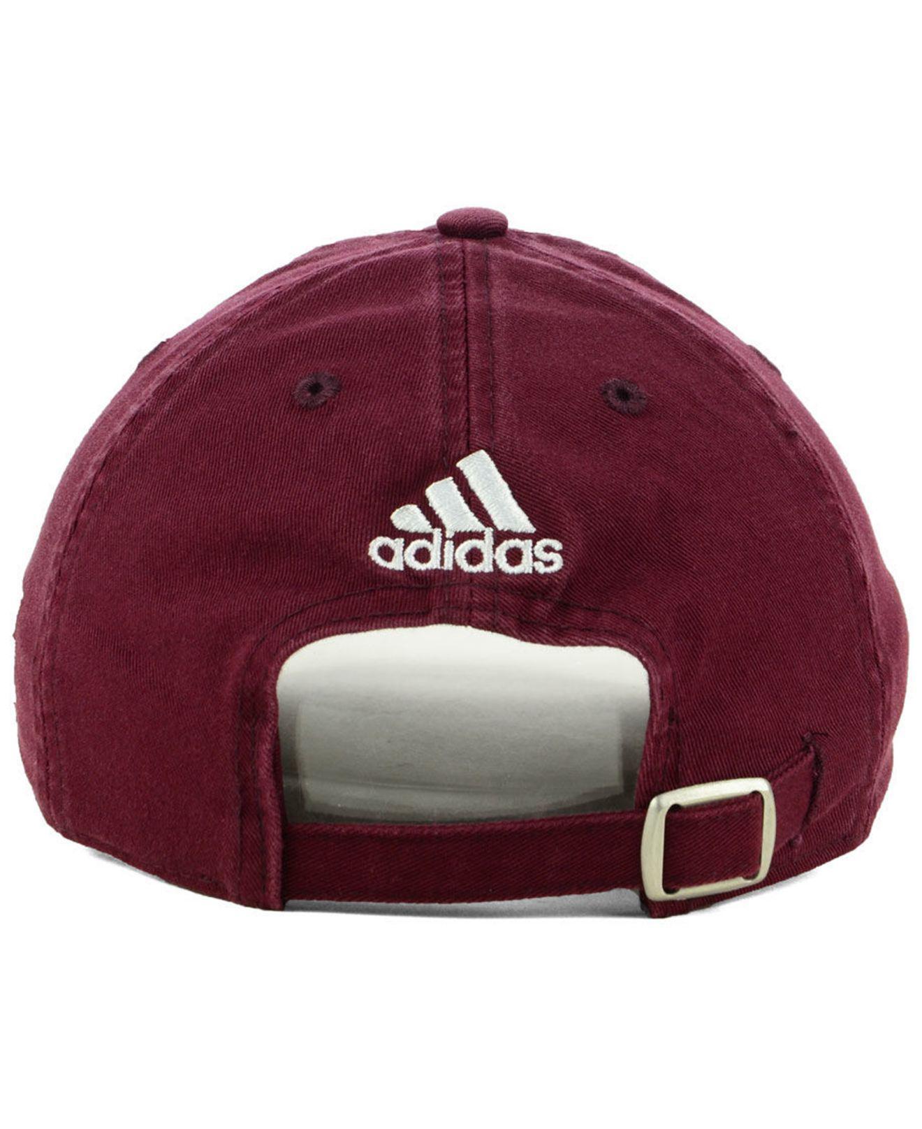 cc421226efa Adidas - Red Texas A m Aggies Stadium Performance Wordmark Adjustable  Strapback Cap for Men - Lyst. View fullscreen