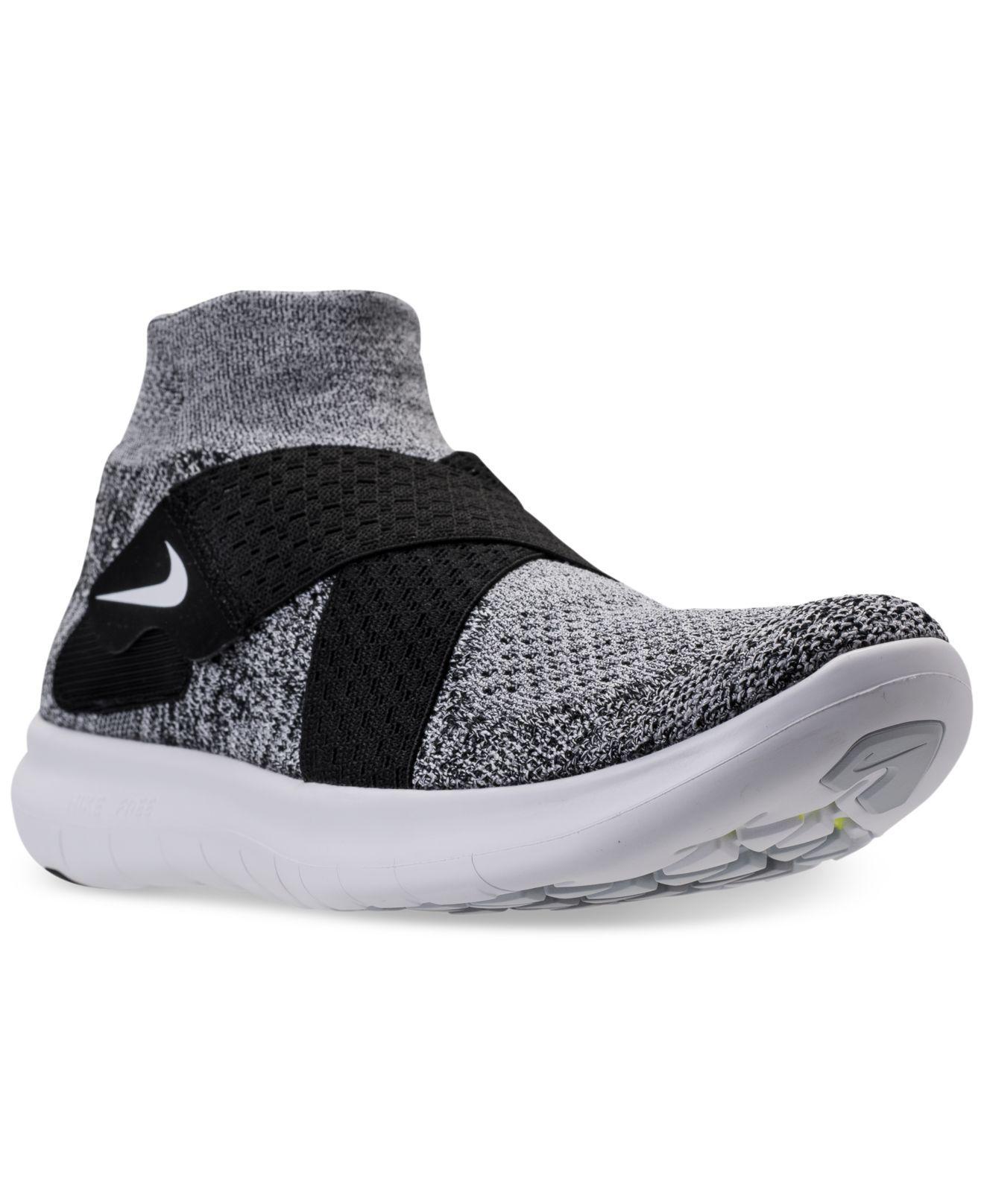 f5089f289e5b Lyst - Nike Women s Free Run Motion Flyknit 2017 Running Sneakers ...