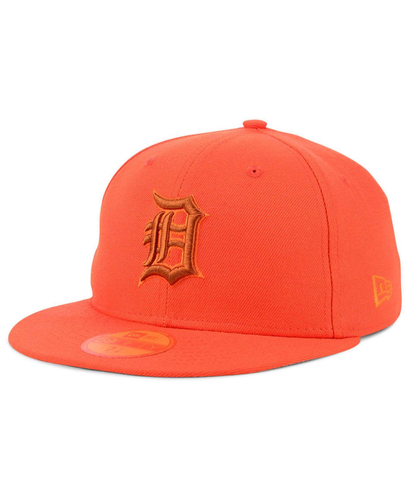 new product c3f2f 3c81e KTZ. Men s Orange Detroit Tigers Prism Color Pack 59fifty Fitted Cap