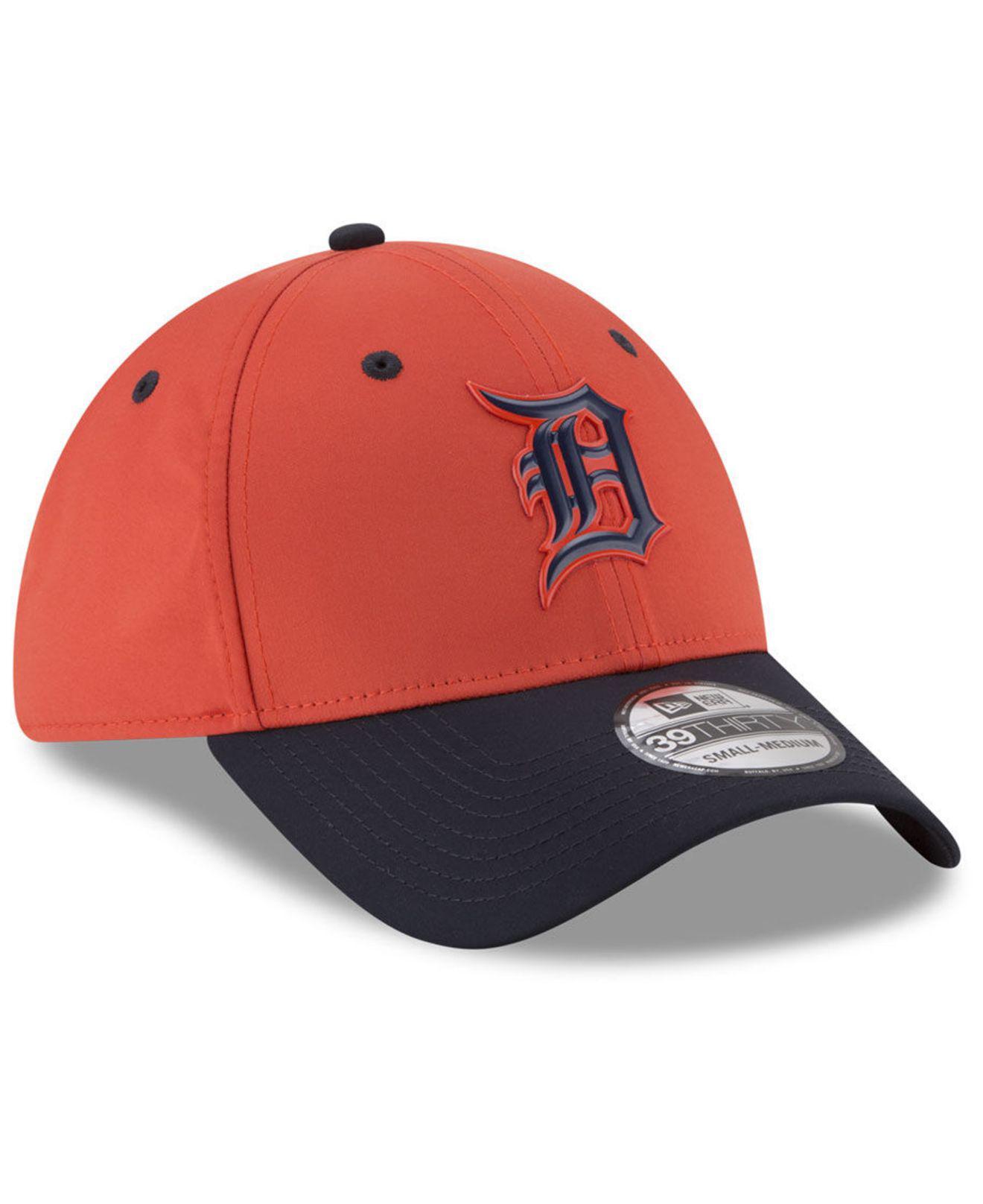 newest collection 031b0 96b52 KTZ - Orange Detroit Tigers Batting Practice 39thirty Cap for Men - Lyst.  View fullscreen