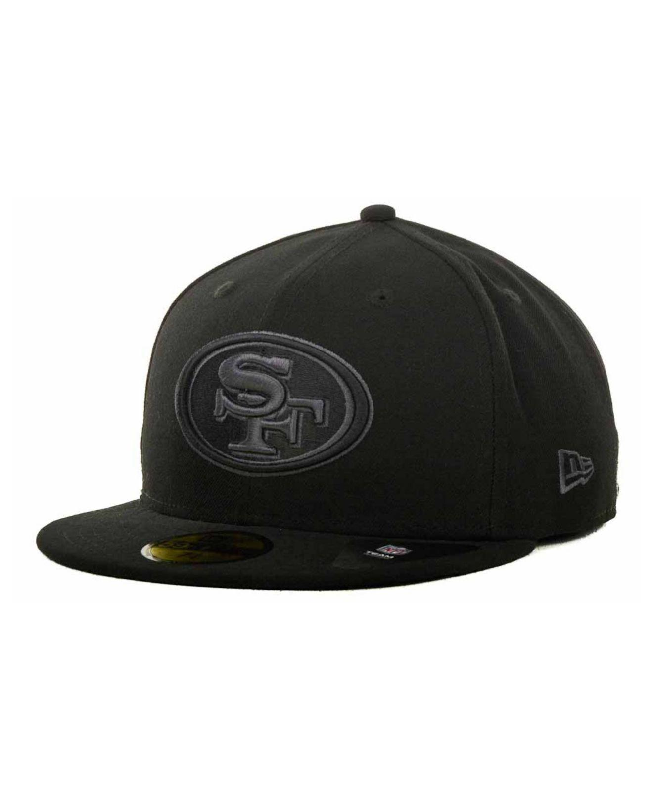 the best attitude 3e5dc bac27 ... new zealand ktz san francisco 49ers black gray 59fifty cap for men  lyst. view fullscreen
