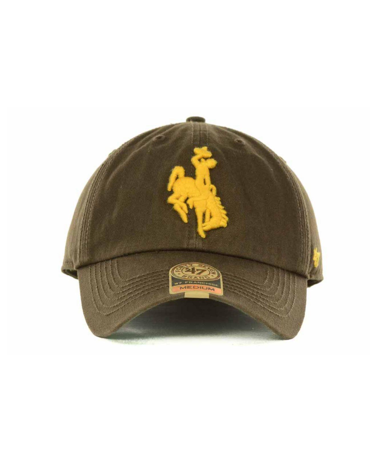 Men's Brown Wyoming Cowboys Franchise Cap