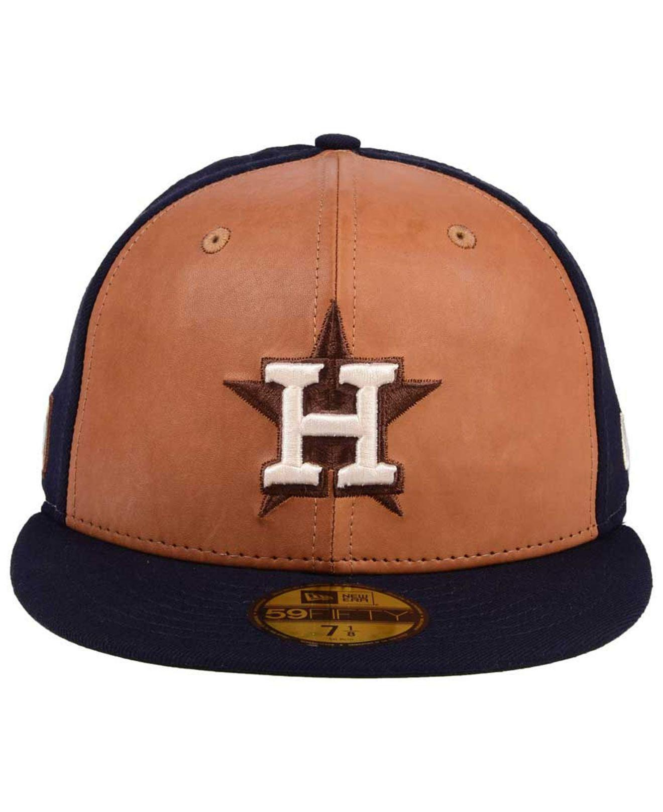 online store wholesale hot sales KTZ Houston Astros X Wilson Leather Front 59fifty Fitted Cap in ...